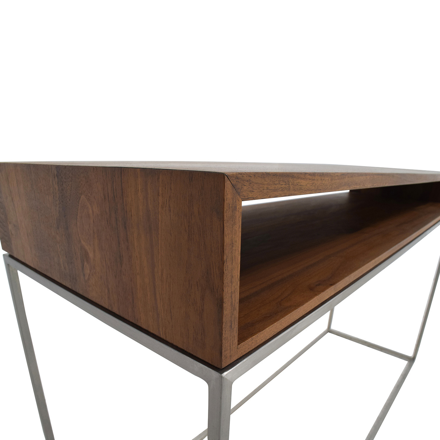 70 Off Cb2 Cb2 Wood And Metal Frame Console Table Tables