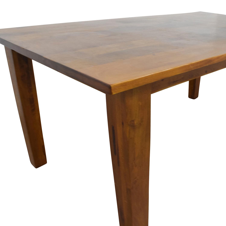 62% OFF - Crate & Barrel Crate & Barrel Solid Wood Rustic ...