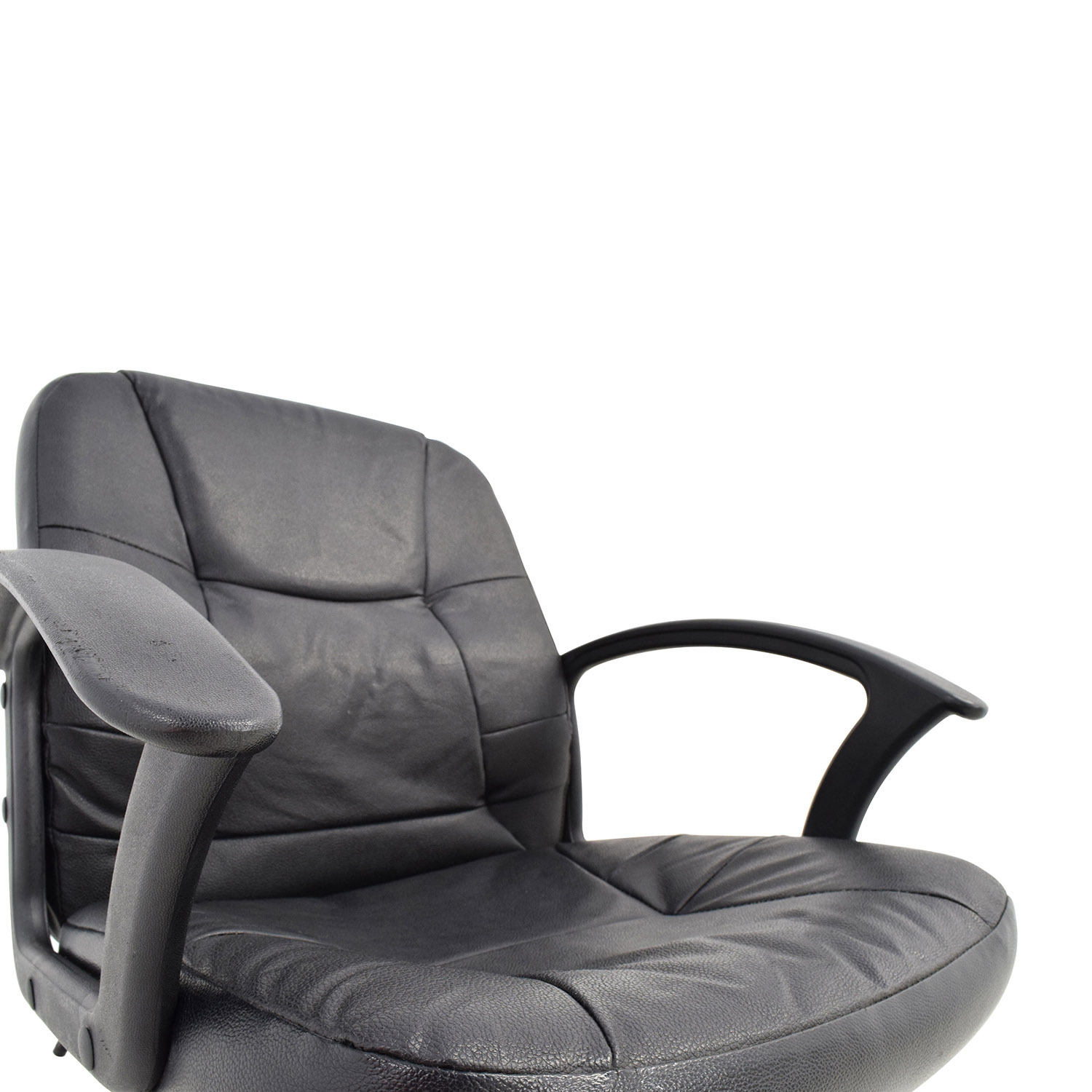 Black Leather Adjustable Desk Chair coupon