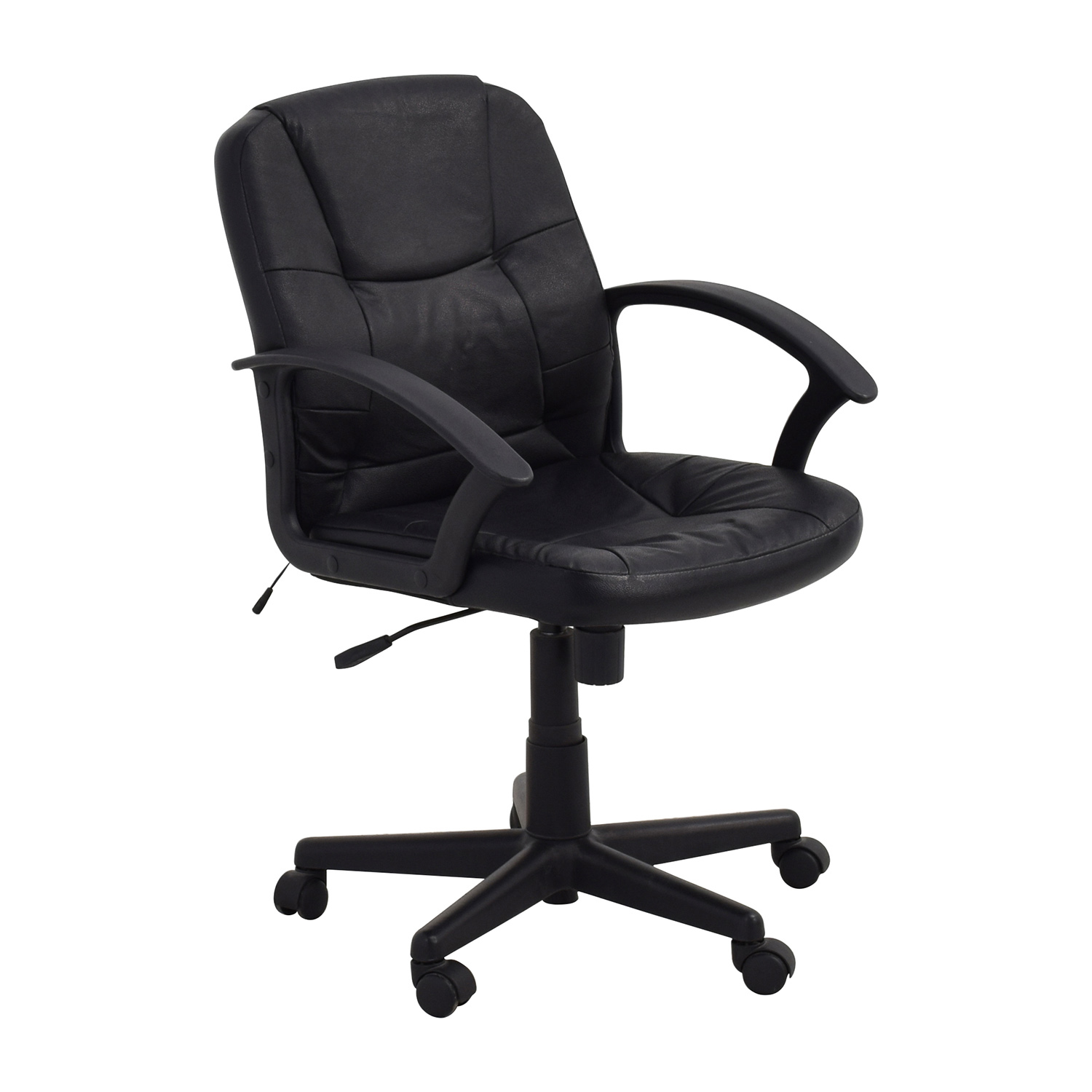Black Leather Adjustable Desk Chair / Chairs