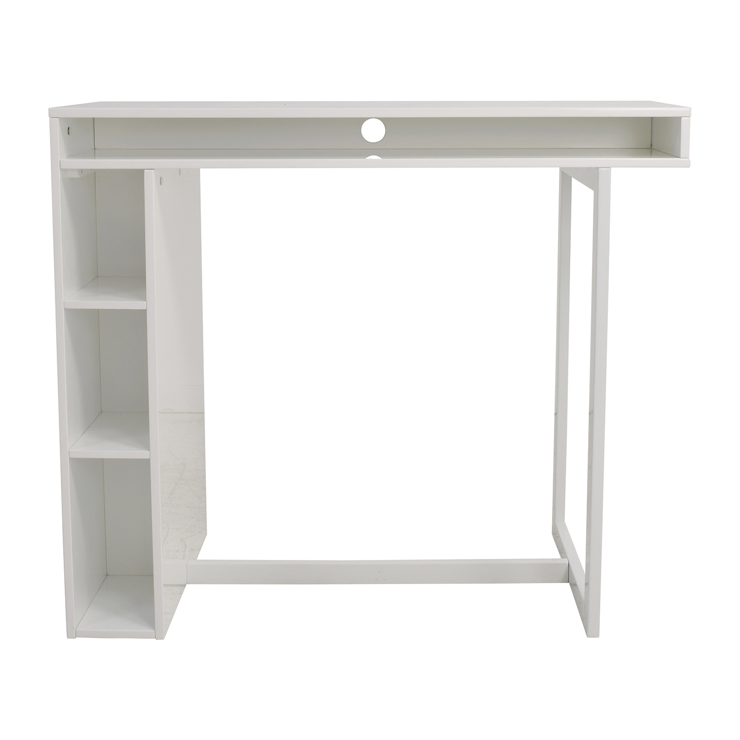 CB2 CB2 White High Dining Table with Storage coupon
