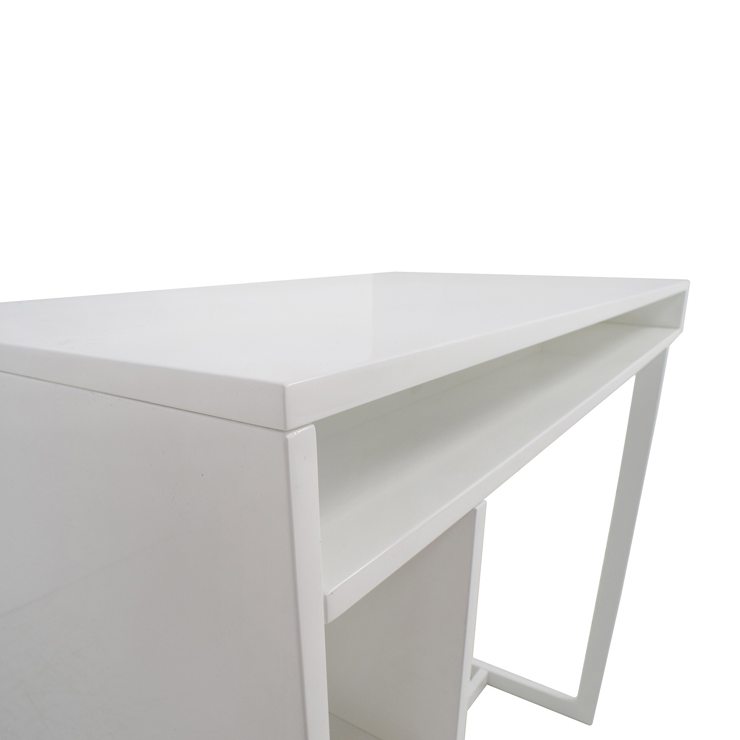 44% OFF CB2 CB2 White High Dining Table with Storage Tables