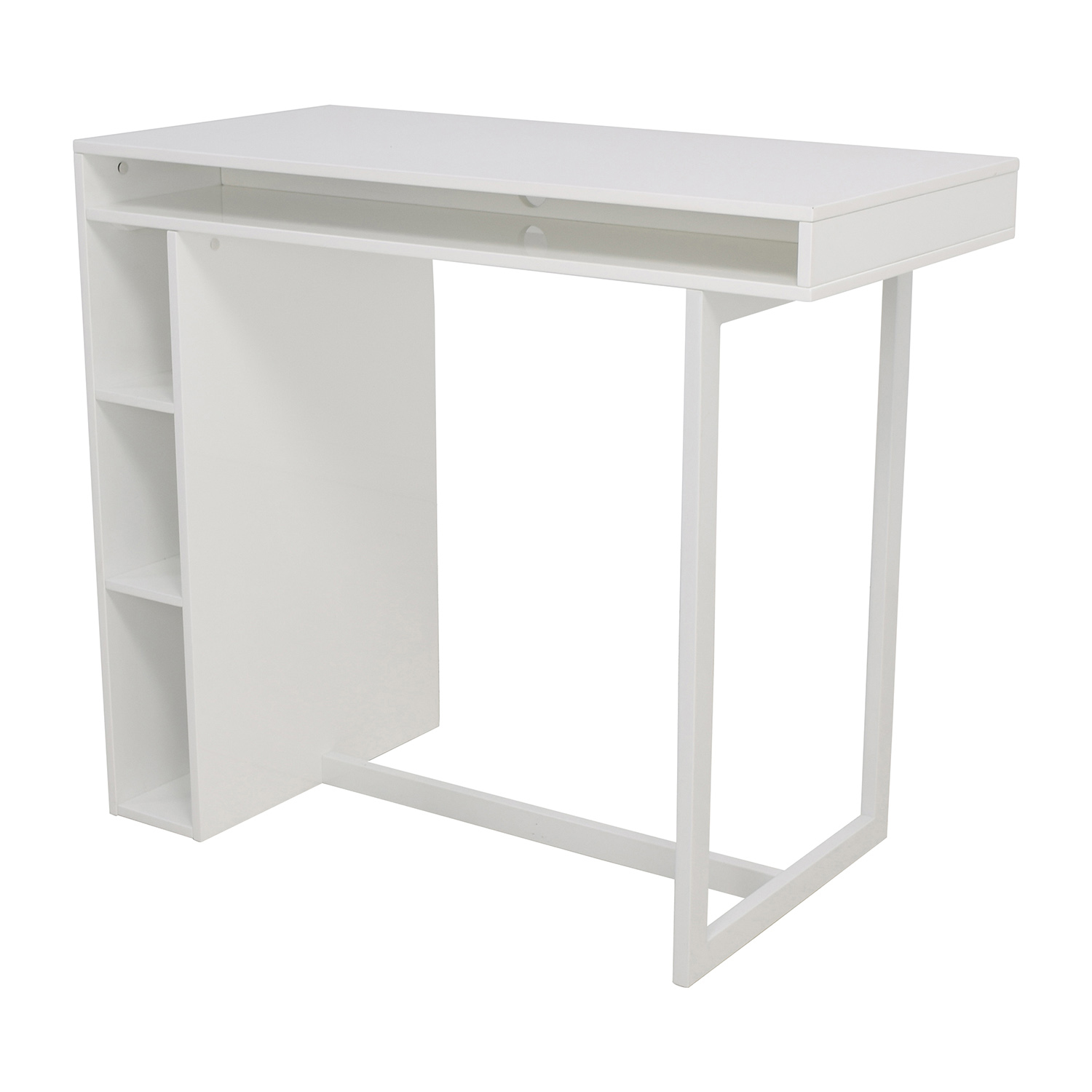 44 off cb2 cb2 white high dining table with storage for High dining table