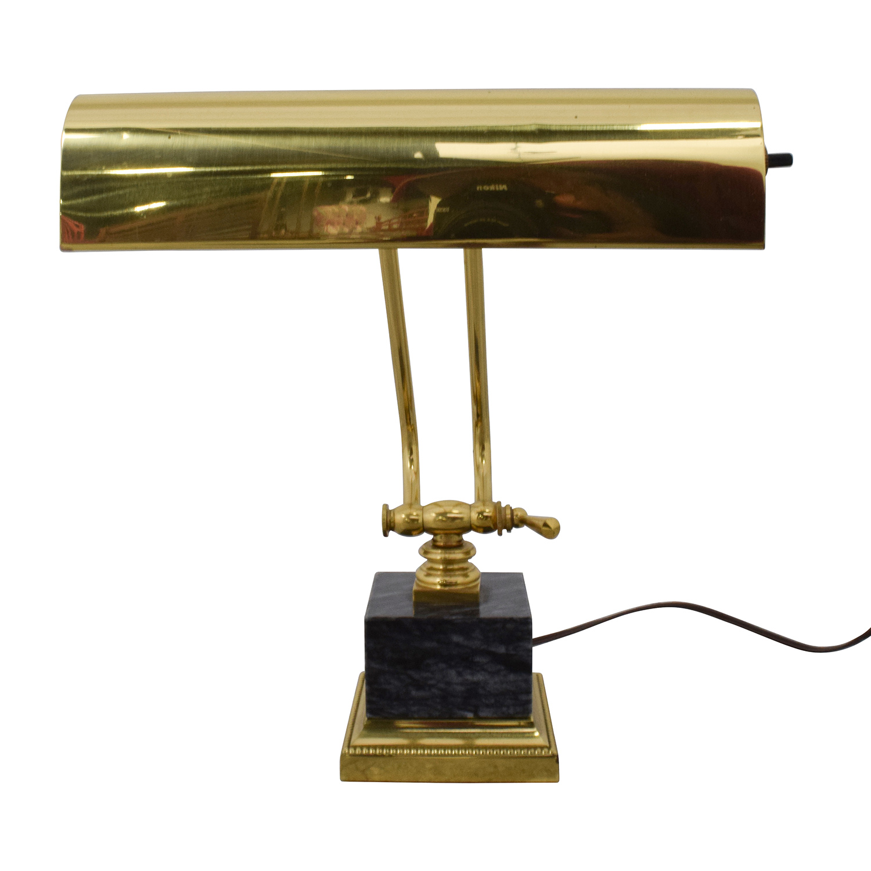 Underwriters Laboratories Inc Underwriters Laboratories Inc Gold Metal Desk Lamp discount