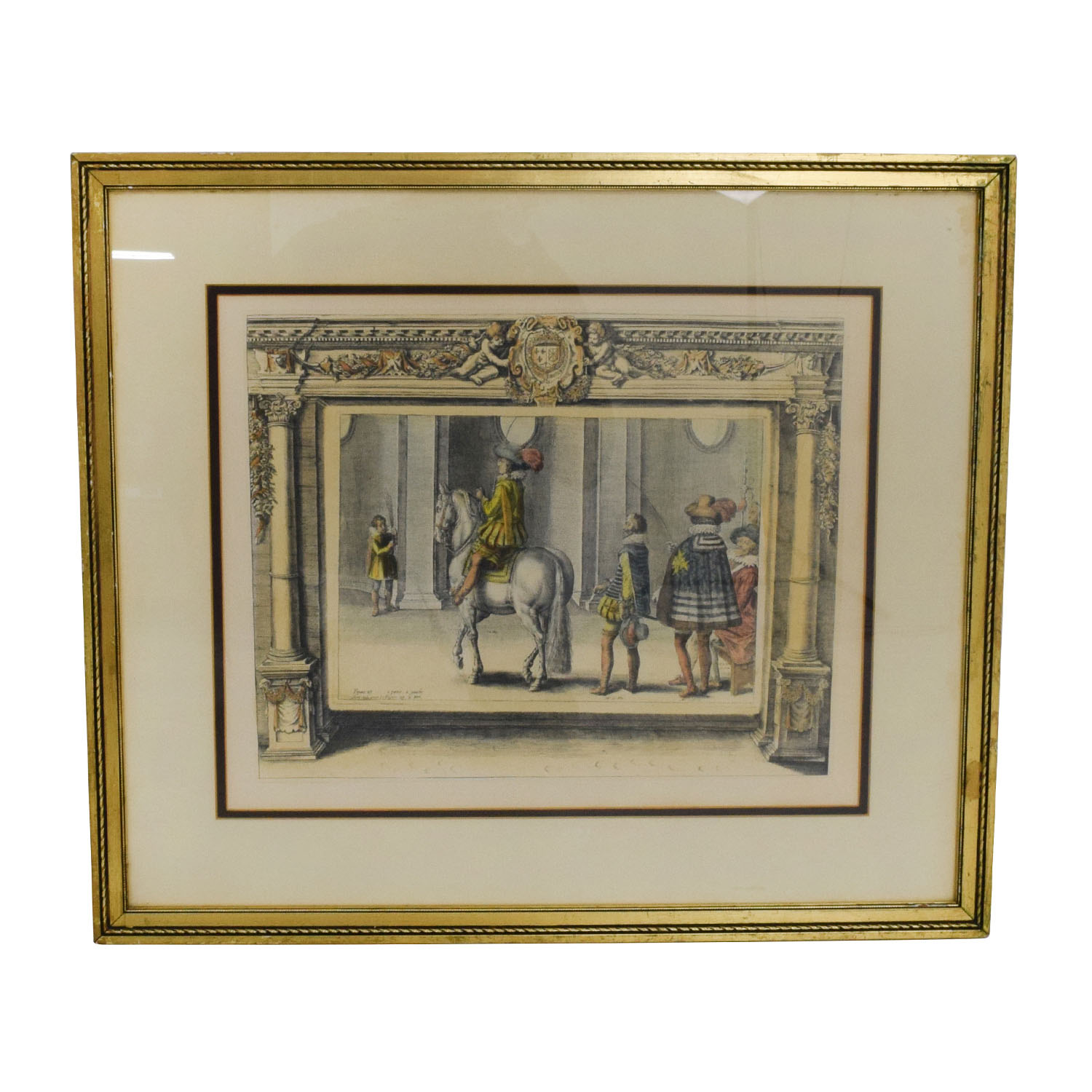 Vintage French Equestrian Print Two sale
