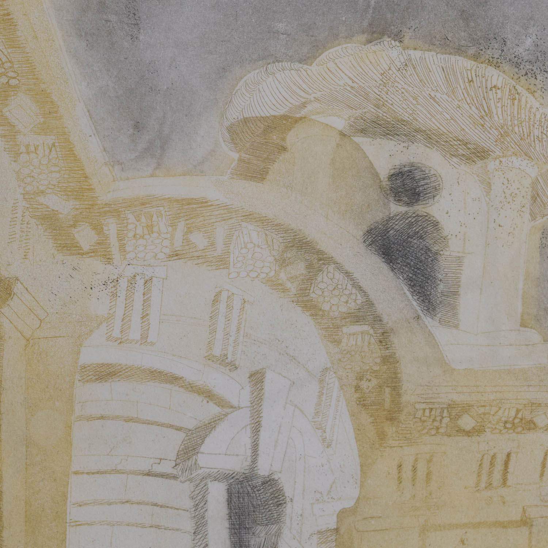 Artist Alison Neville Alison Neville St. John Smith Square 1 Print second hand