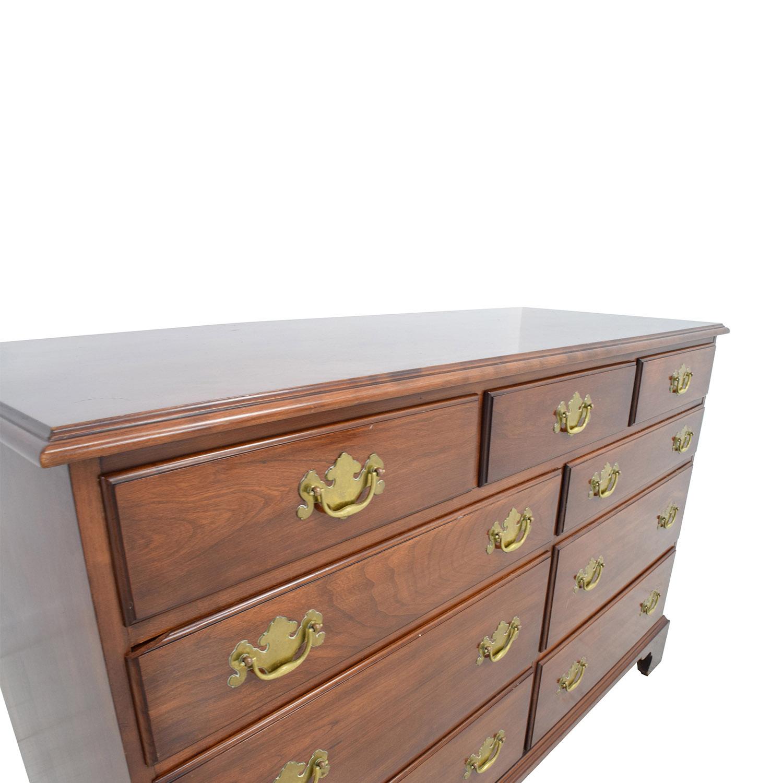 buy Antique Virginia Galleries Nine-Drawer Dresser Virginia Galleries Dressers