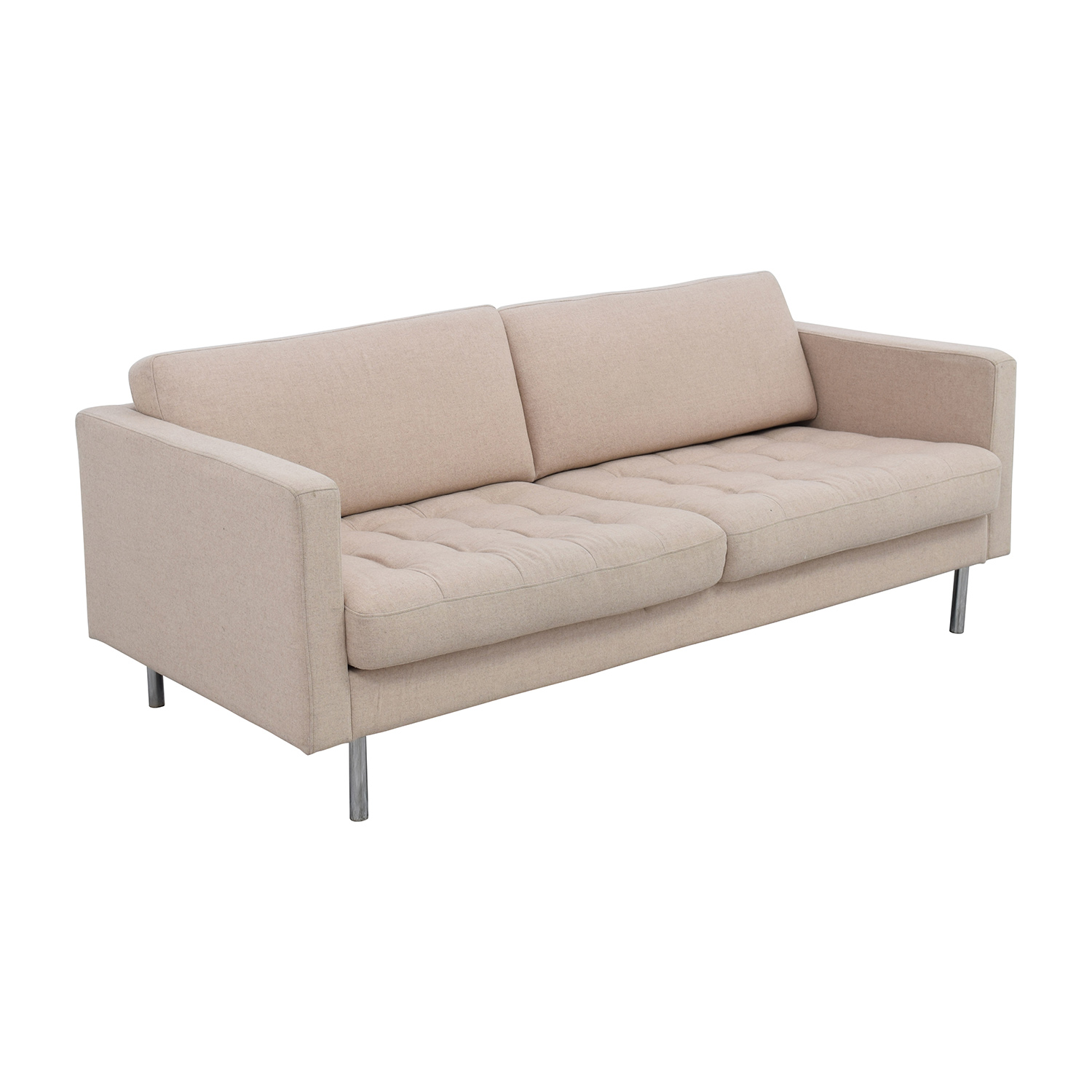 65 Off Boconcept Boconcept Carmo Sand Two Tufted Cushion Sofa Sofas