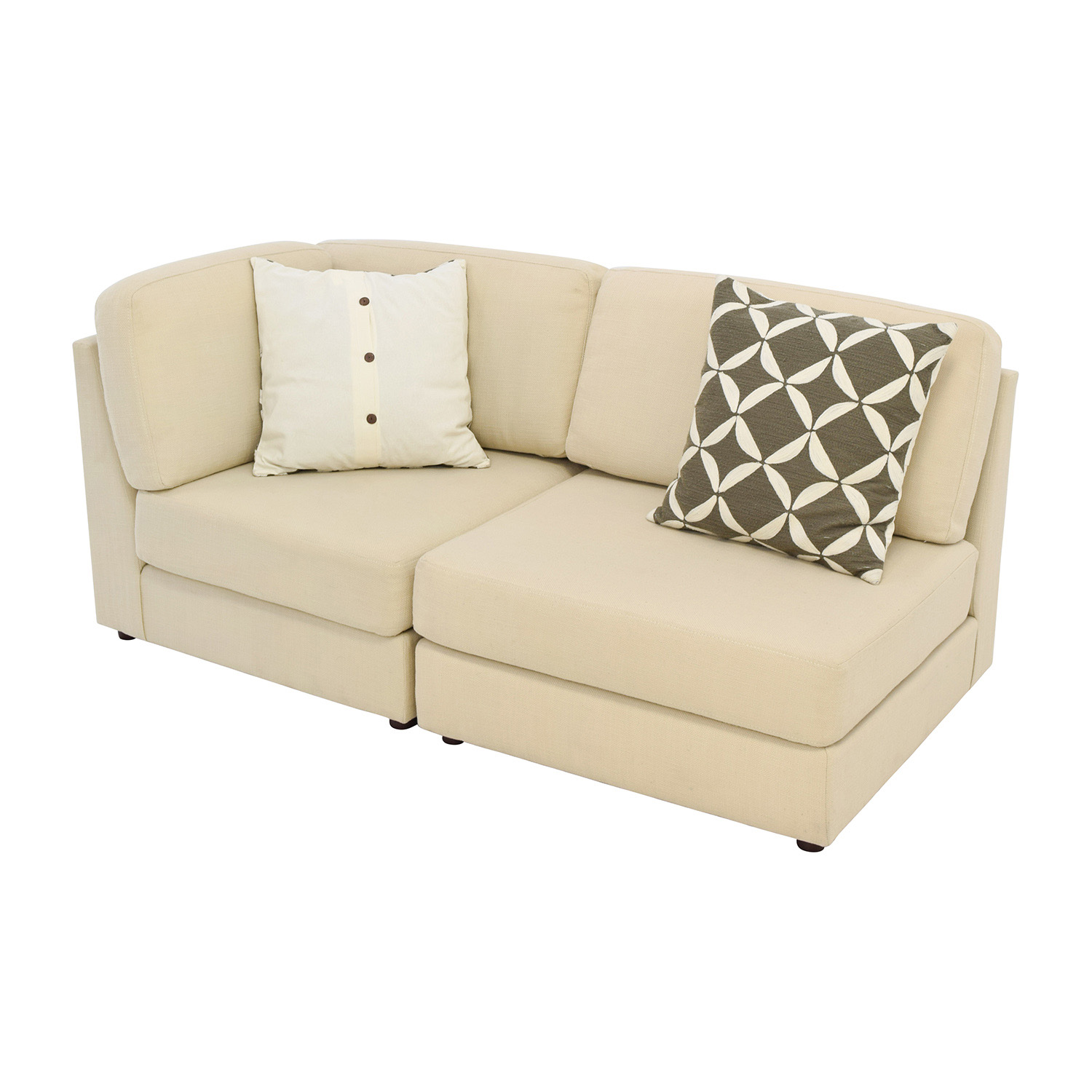 76 off west elm west elm cream chaise sofa or two for Couch with 2 chaises