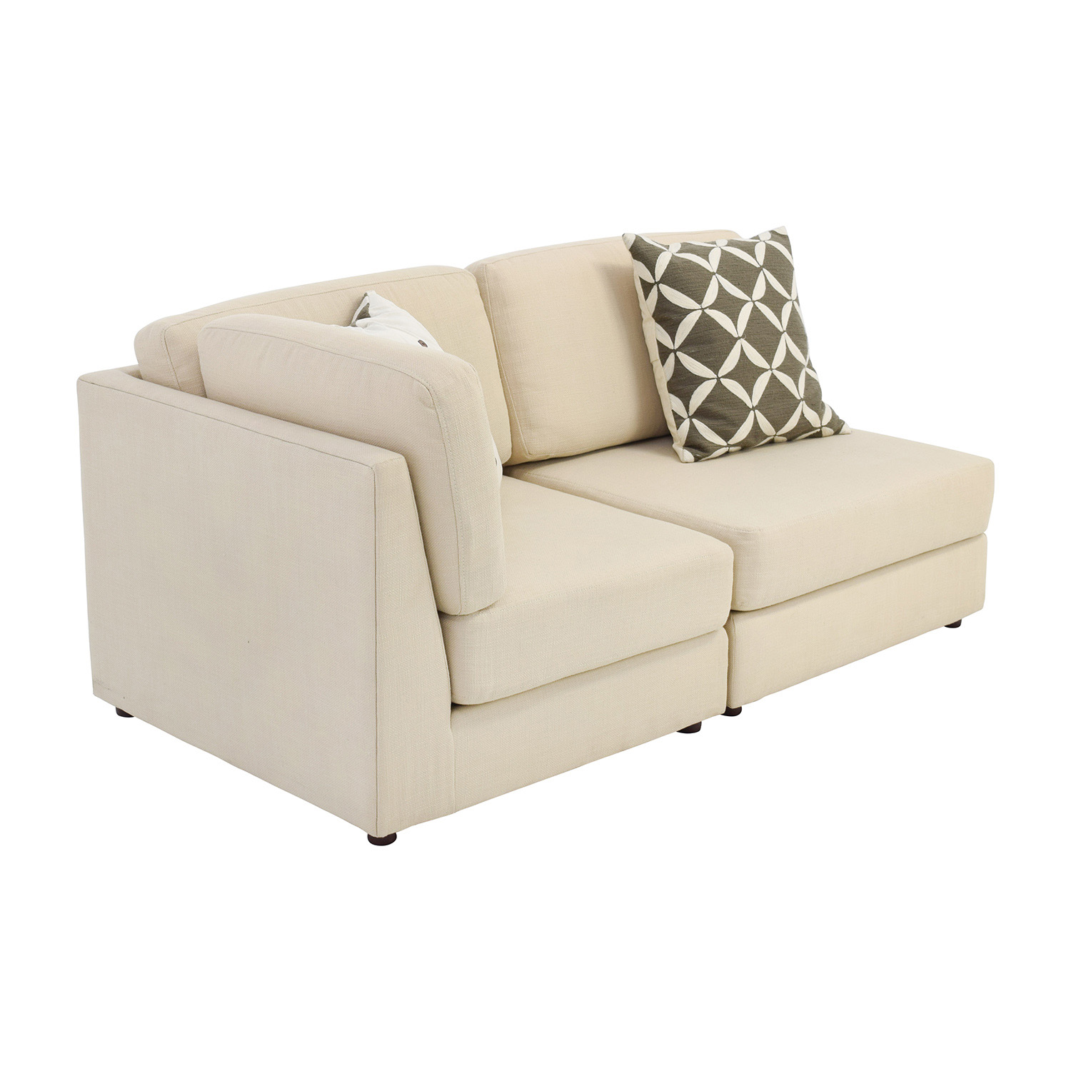 76 off west elm west elm cream chaise sofa or two for Chaise and sofa