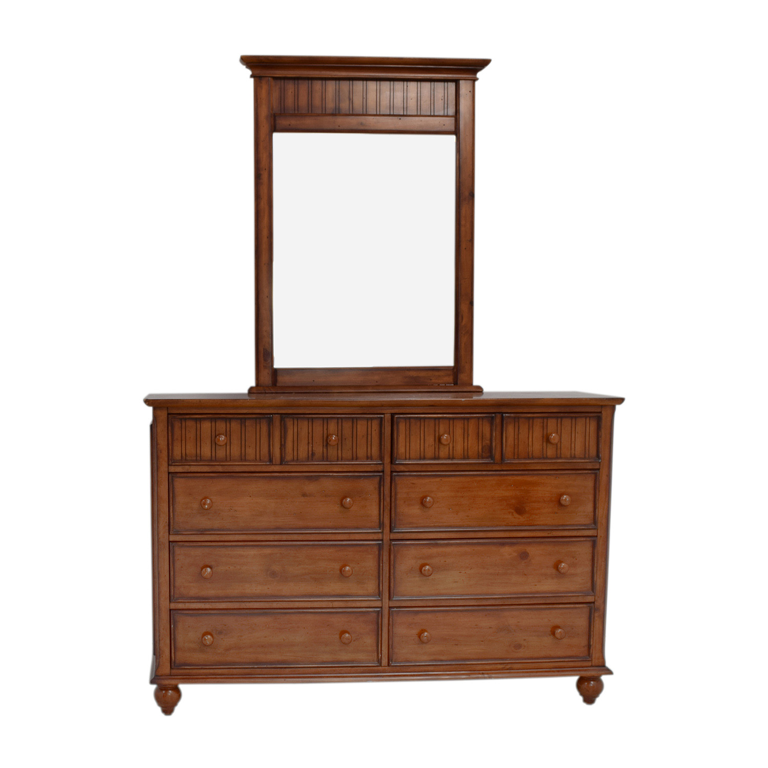 American Signature American Signature Eight-Drawer Dresser with Mirror nyc