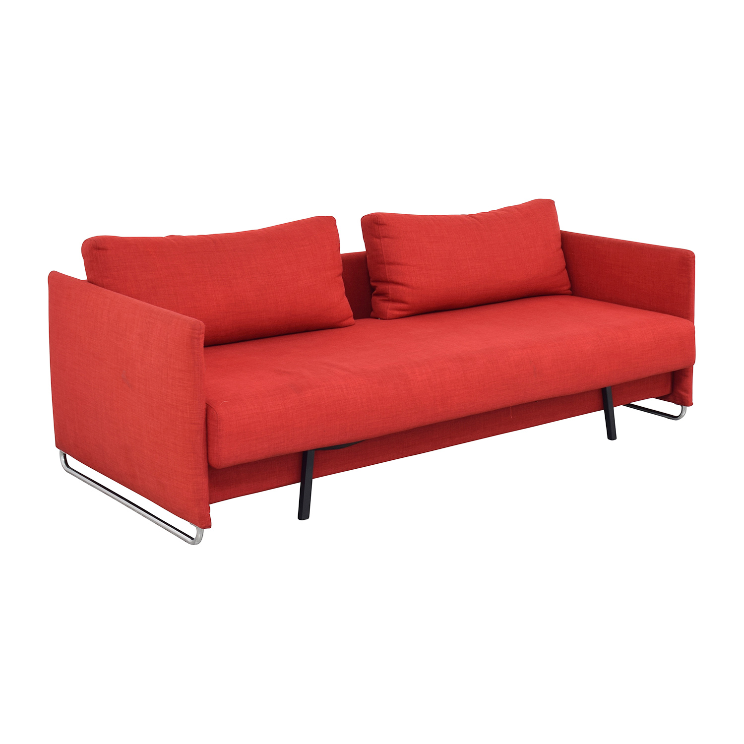 74% OFF - CB2 CB2 Tandom Red Sleeper Sofa / Sofas