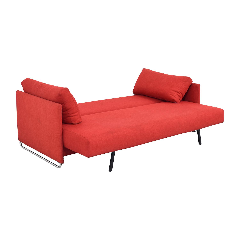 70% OFF CB2 CB2 Tandom Red Sleeper Sofa Sofas