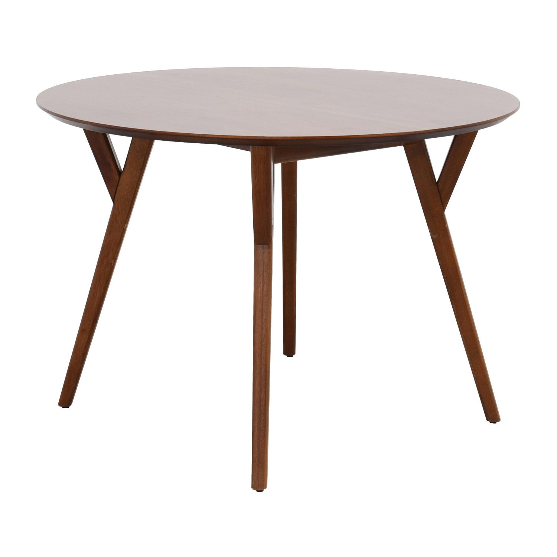 58 off west elm west elm eucalyptus wood dinner table for Table for dinner