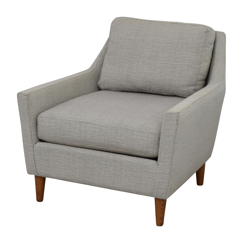 used west elm furniture. west elm grey everett sofa chair used furniture f