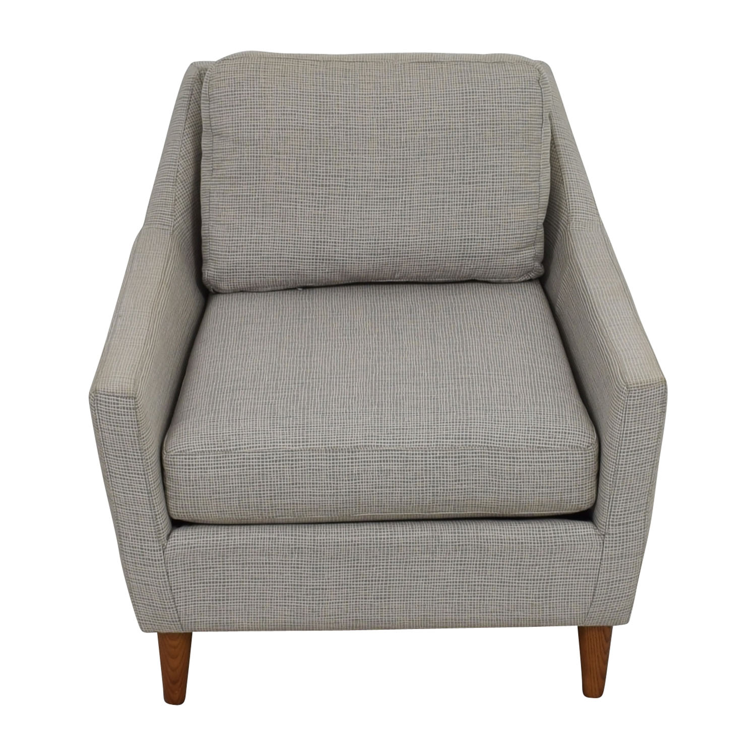 shop West Elm Grey Everett Sofa Chair West Elm Chairs