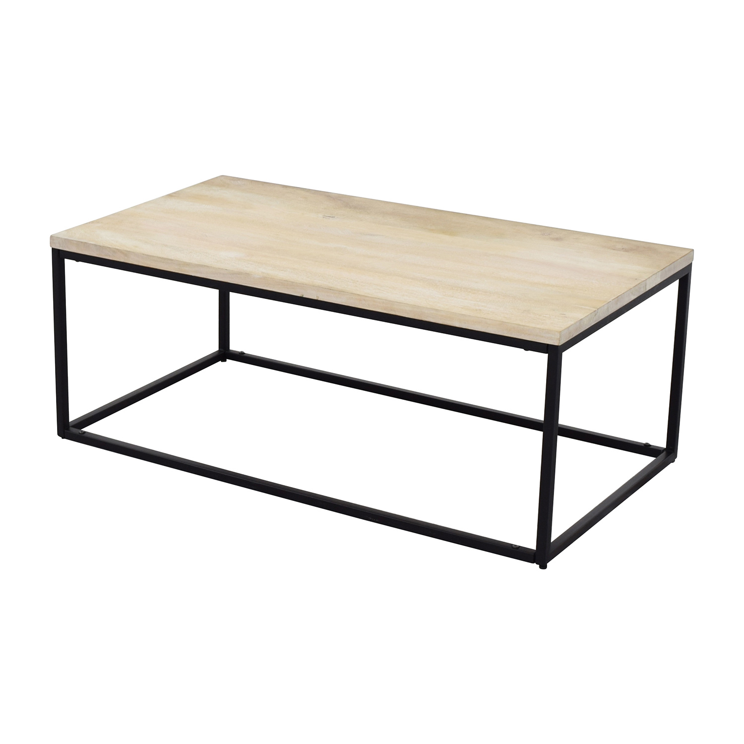 28 Off West Elm West Elm Box Frame Coffee Table White Wash Tables