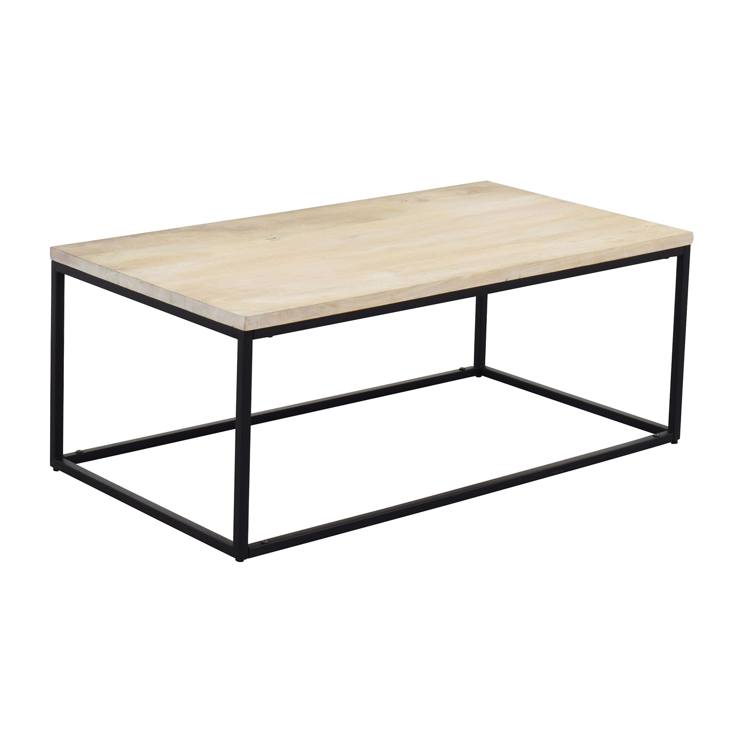 28% OFF West Elm West Elm Box Frame Coffee Table White Wash Tables