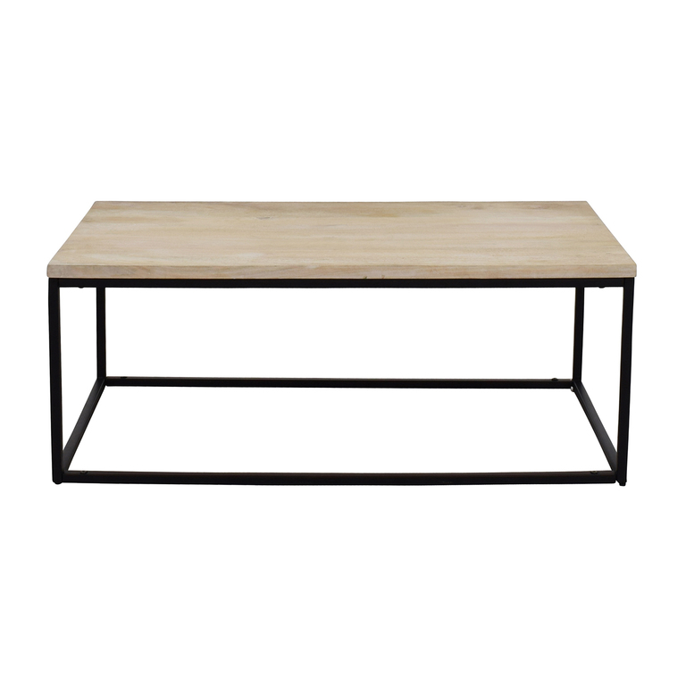 West Elm West Elm Box Frame Coffee Table White Wash price