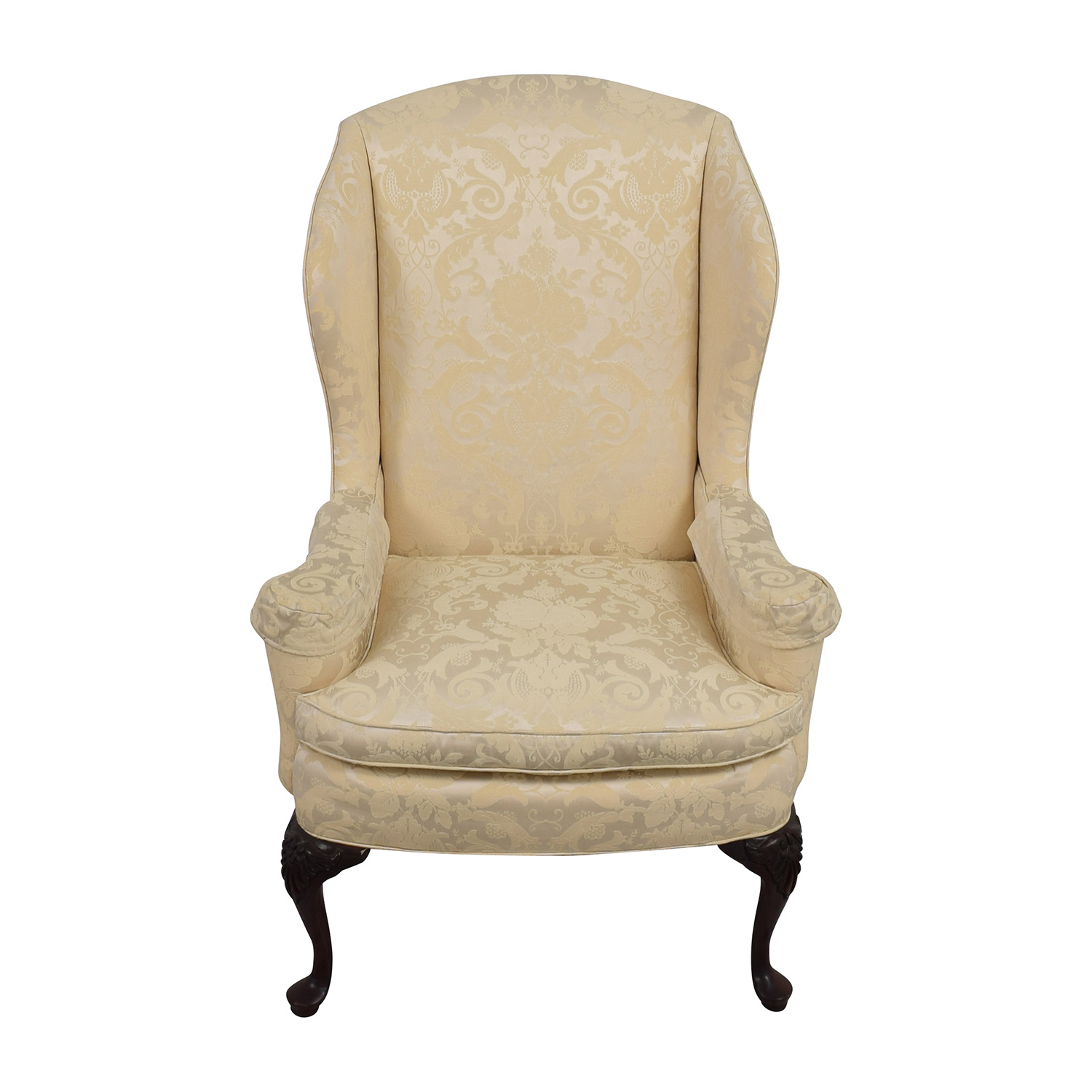 Croydon Furniture Croydon Furniture Queen Anne White Upholstered Chair price