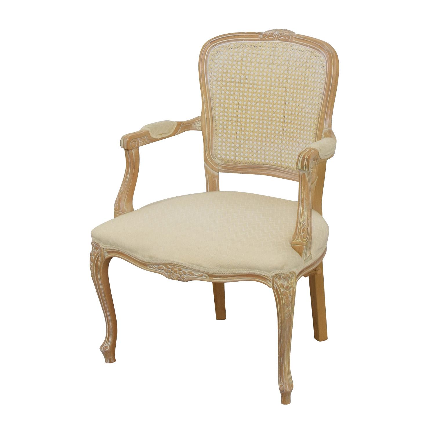 68 off link taylor link taylor french provincial creme chair chairs. Black Bedroom Furniture Sets. Home Design Ideas