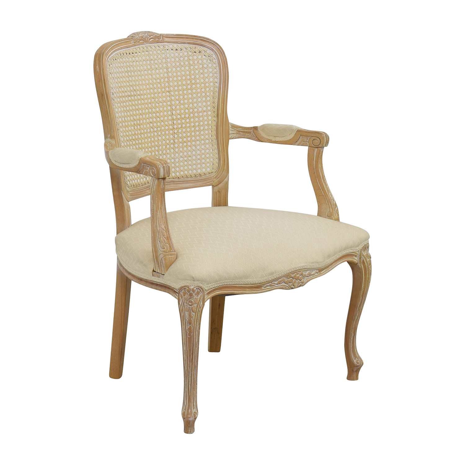 68% OFF Link Taylor Link Taylor French Provincial Creme Chair