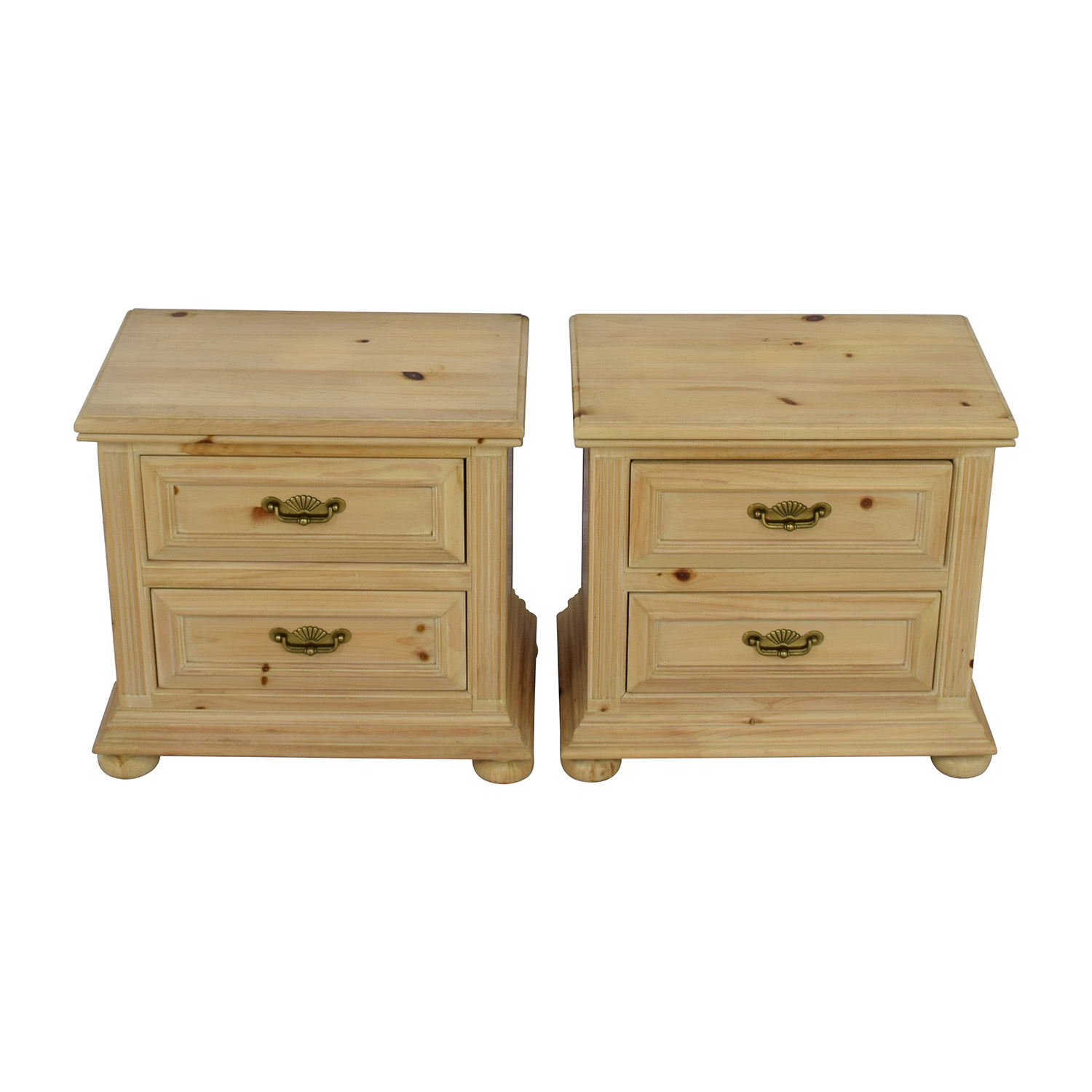 Link Taylor Link Taylor Natural Wood Two-Drawer Night Stands
