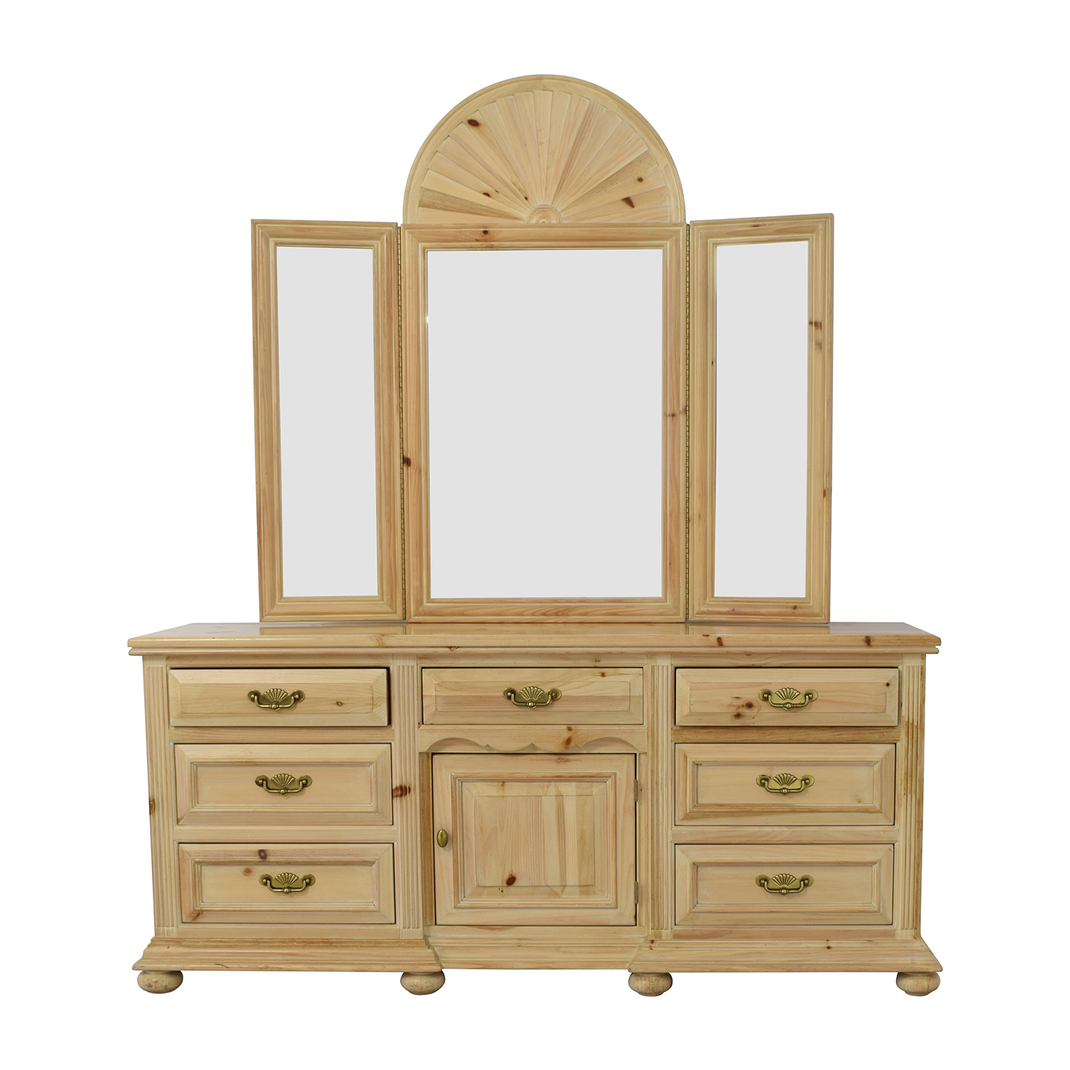 dresser with hutch mirror black link taylor natural sevendrawer dresser with mirror used 85 off regazzi morigeaulepine sever drawer and