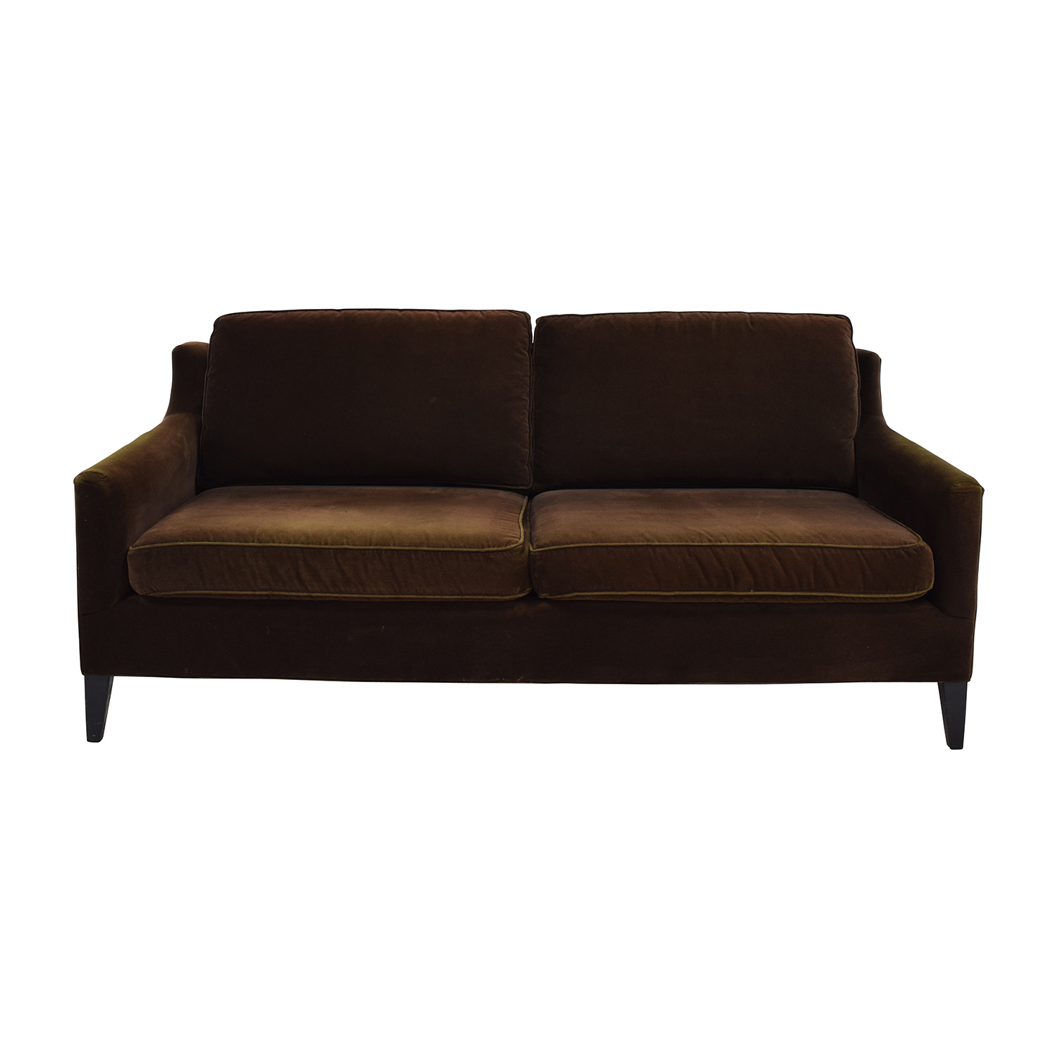 Beau Dark Brown Velvet Two Cushion Sofa Brown ...