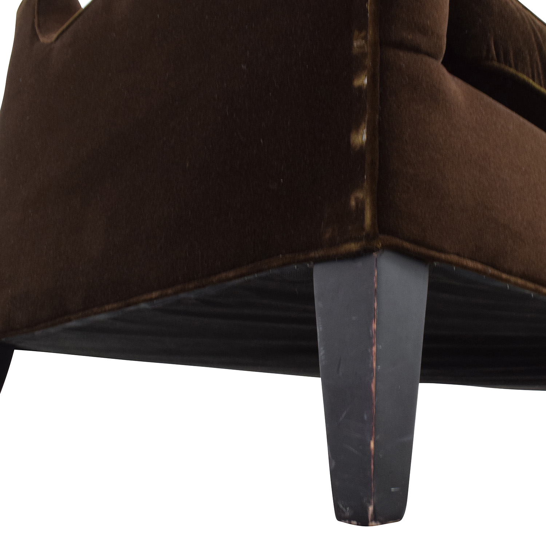 shop Dark Brown Velvet Two Cushion Sofa Classic Sofas