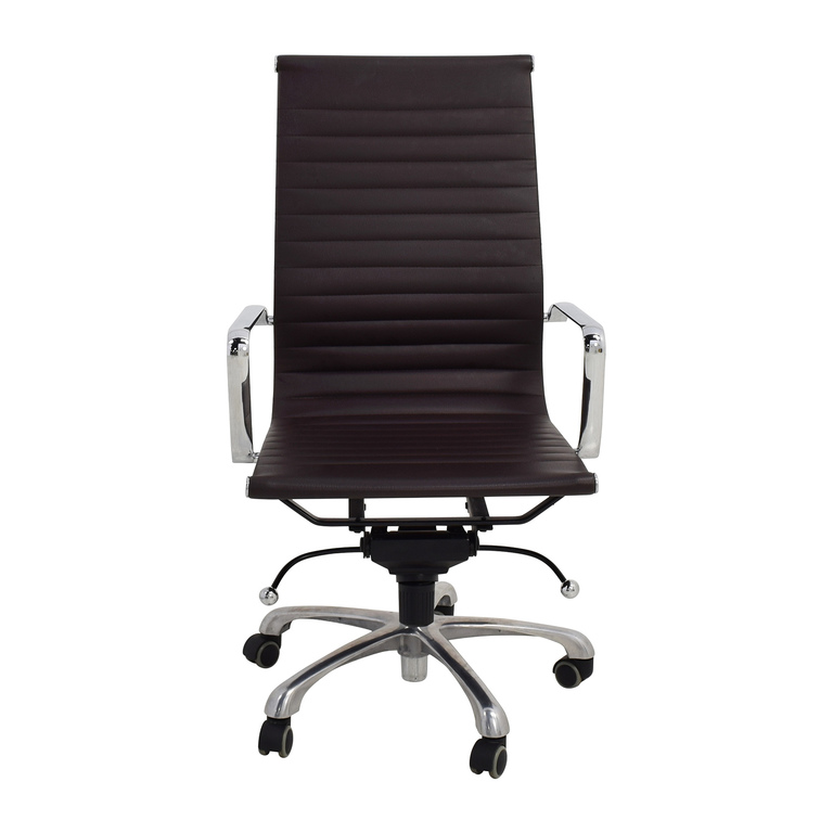 Eames Style Black Adjustable Office Chair discount