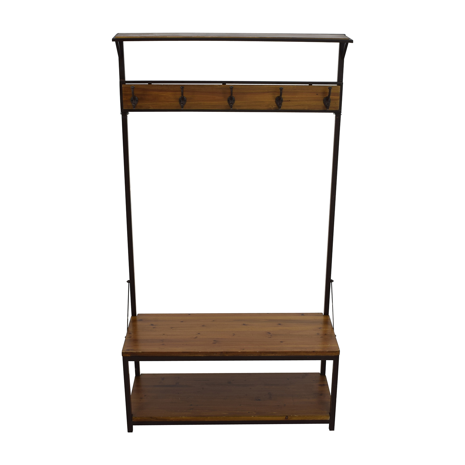 buy  Rustic Wood Foyer Wardrobe online
