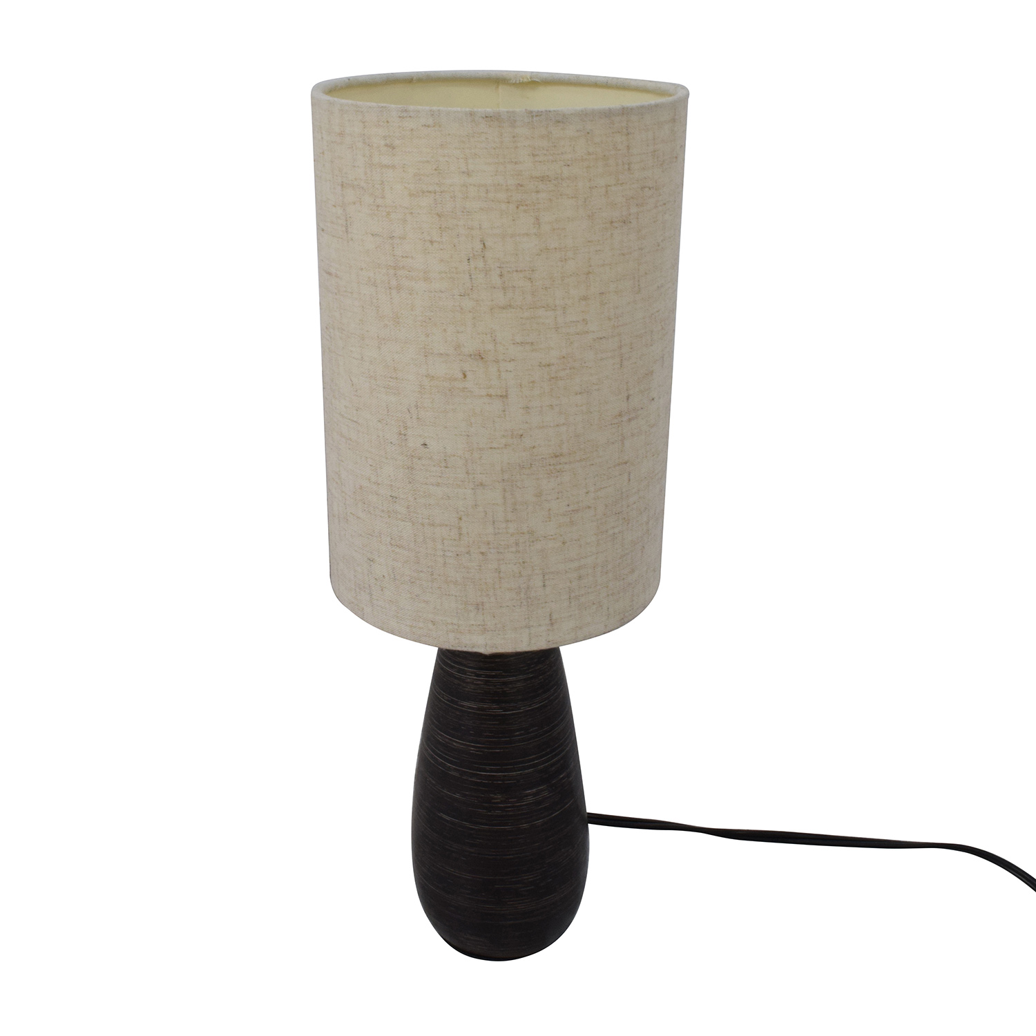 Brown Lamp with Beige Shade / Decor