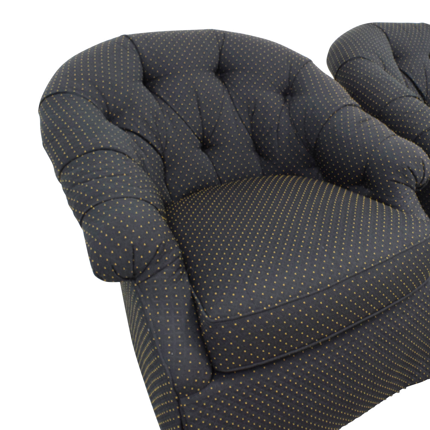 83 off sherrill furniture sherrill furniture gold and black polka dot armchairs chairs. Black Bedroom Furniture Sets. Home Design Ideas