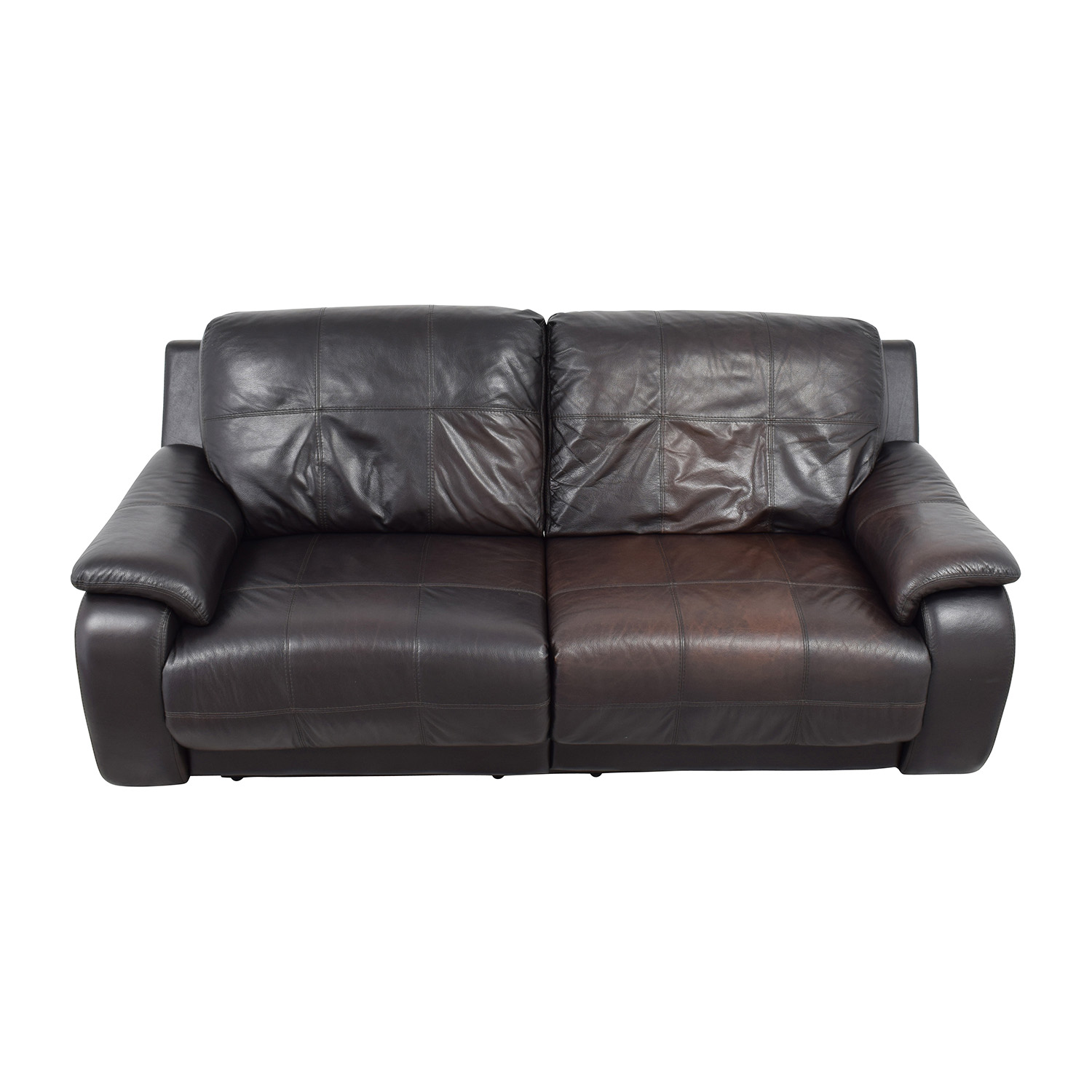 Perfect Raymour And Flanigan Raymour And Flanigan Espresso Leather Power Recliner  Sofa For Sale