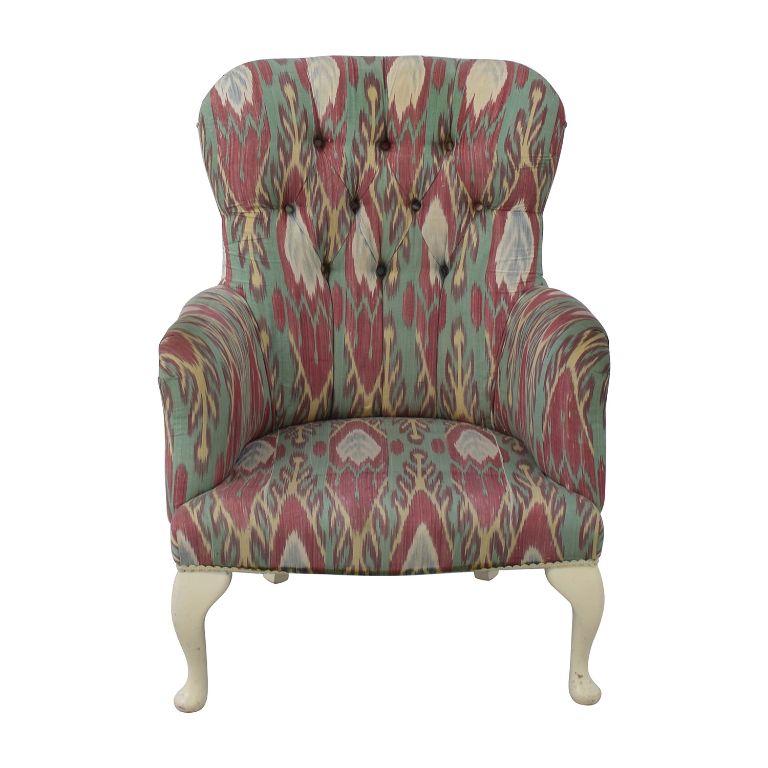 shop Uzbek Ikat Silk Print Custom Accent Chair Custom