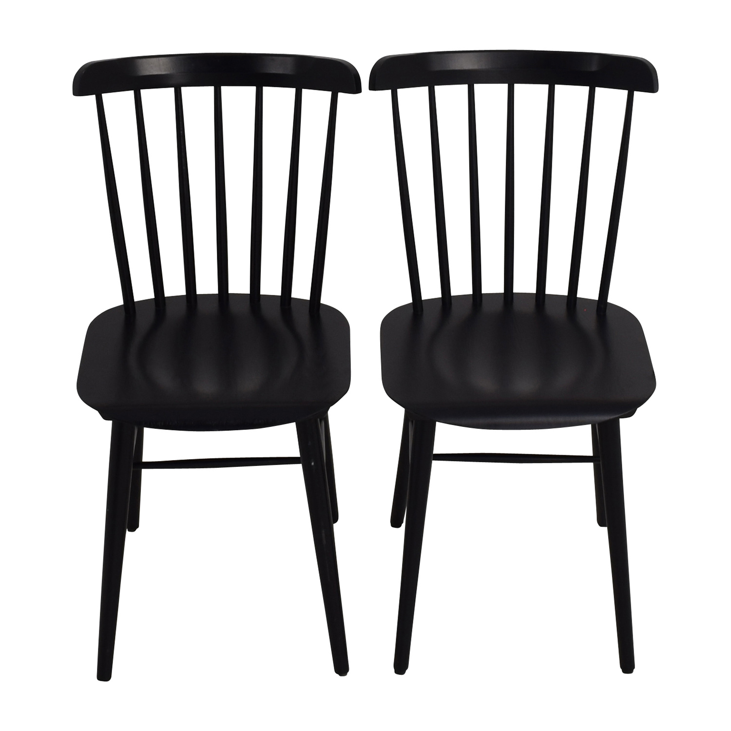 Design Within Reach Design Within Reach Black Salt Chairs