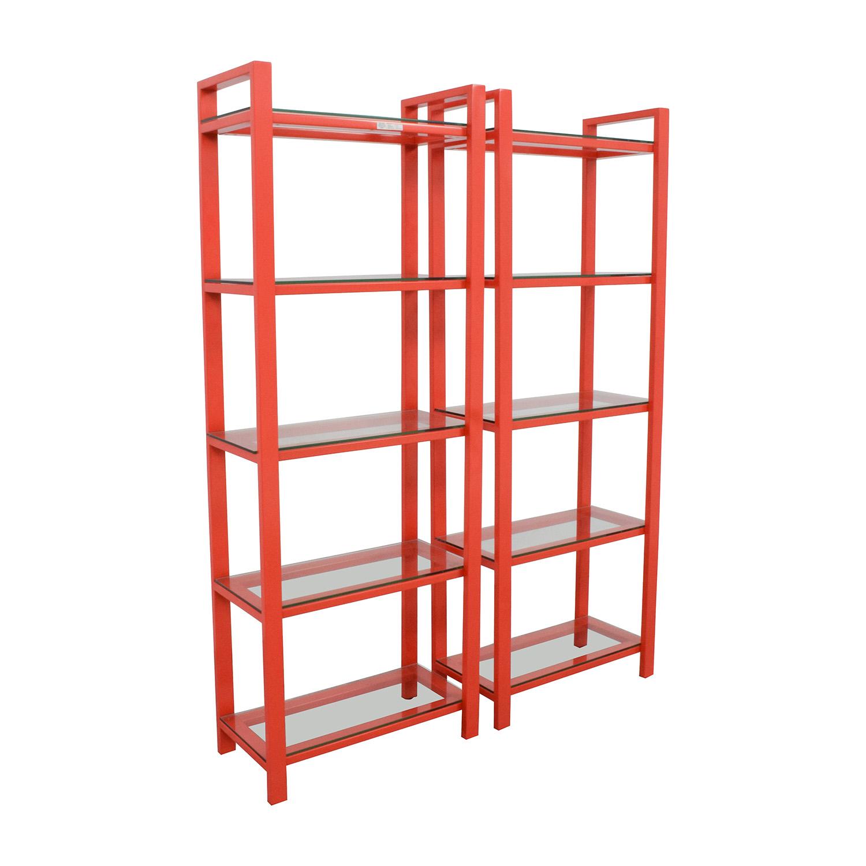 Excellent 58 Off Crate Barrel Crate Barrel Pilsen Red Bookshelves Storage Interior Design Ideas Clesiryabchikinfo