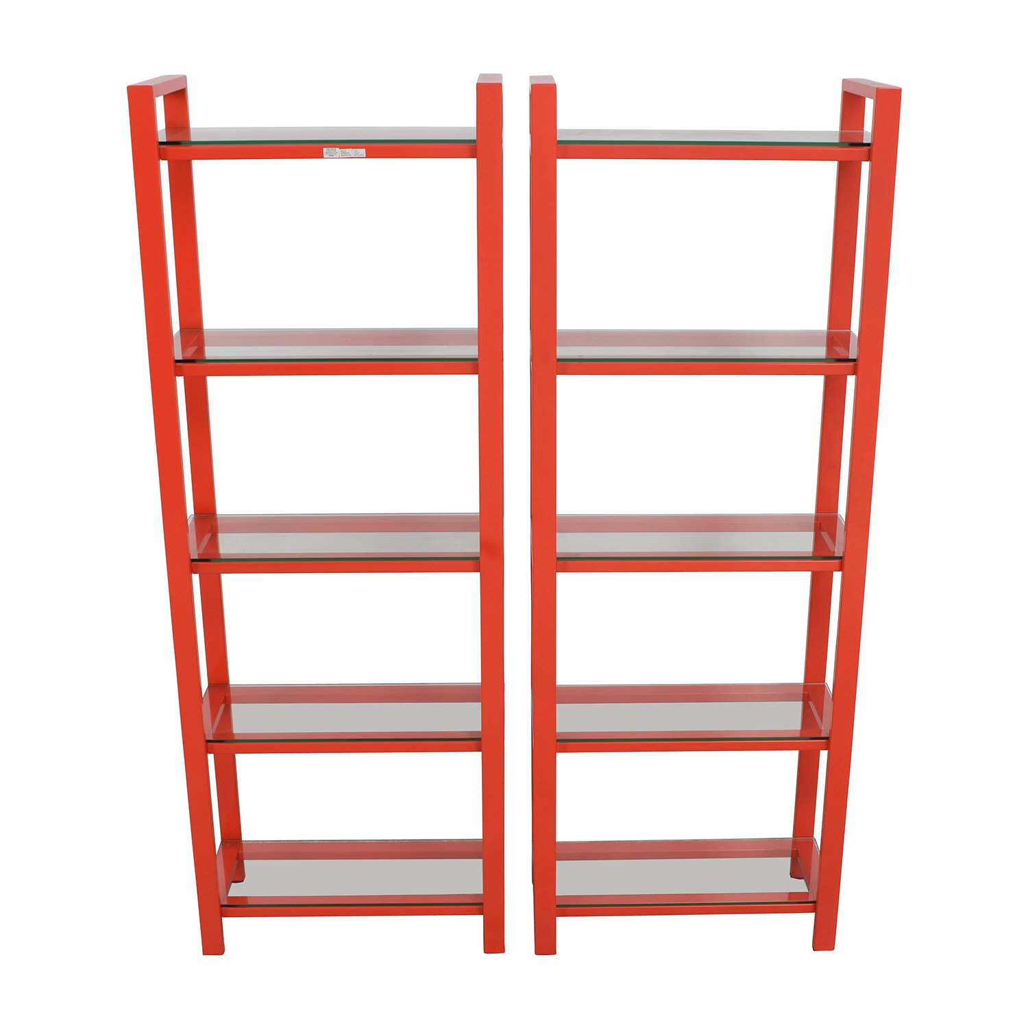 Crate and Barrel Crate & Barrel Pilsen Red Bookshelves