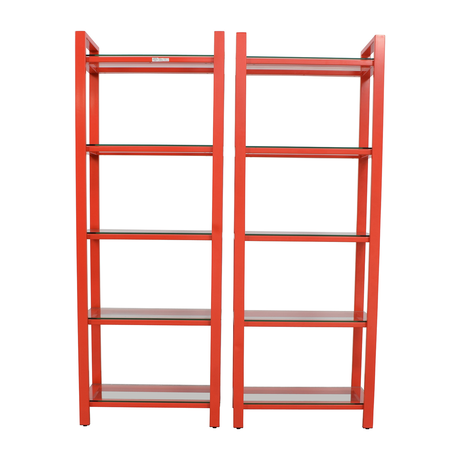 Crate and Barrel Crate & Barrel Pilsen Red Bookshelves used
