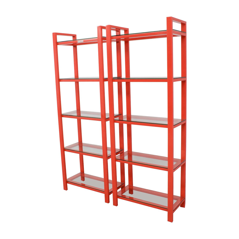 Pleasing 58 Off Crate Barrel Crate Barrel Pilsen Red Bookshelves Storage Interior Design Ideas Clesiryabchikinfo