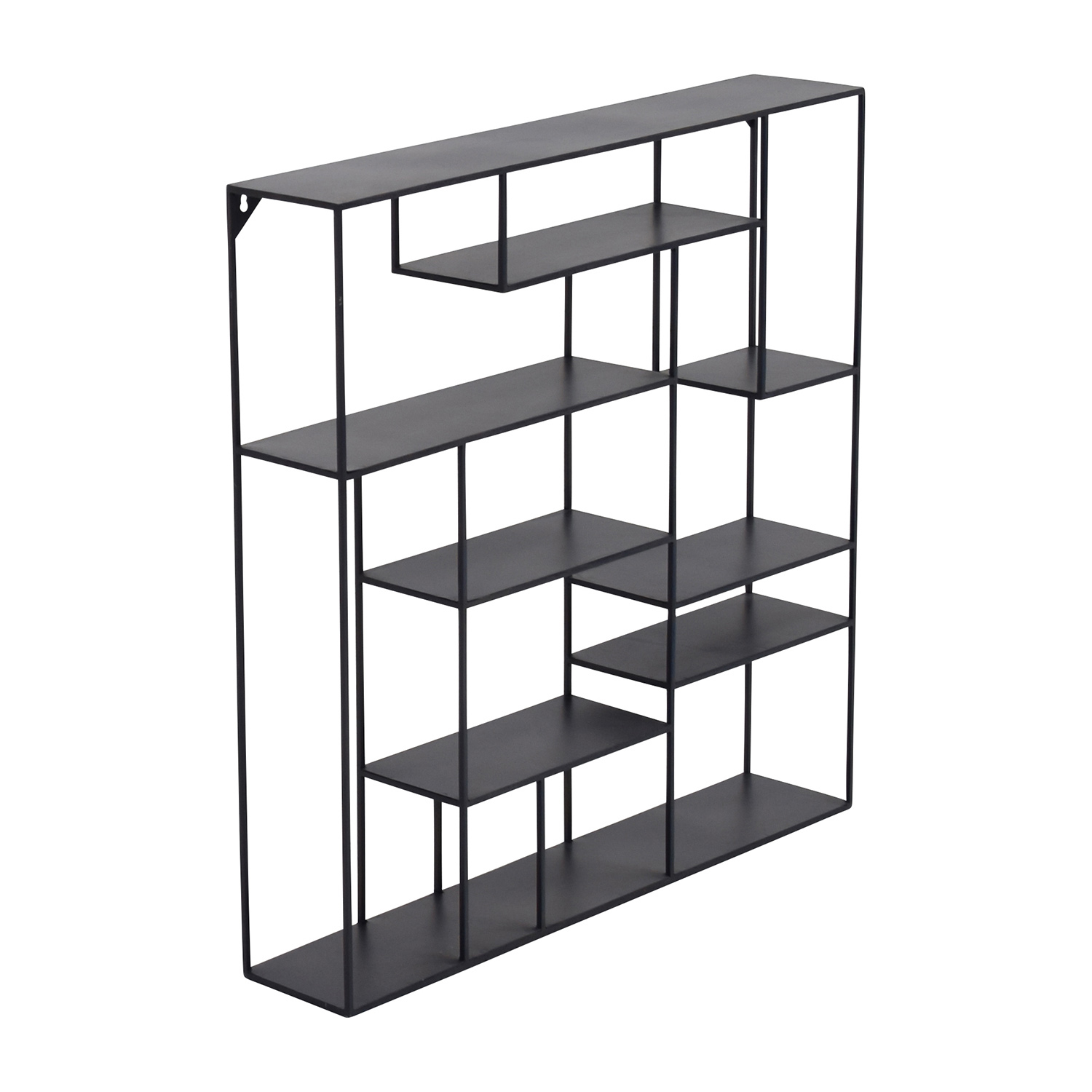 57 off cb2 cb2 alcove black metal wall shelf storage - Wall metal shelf ...