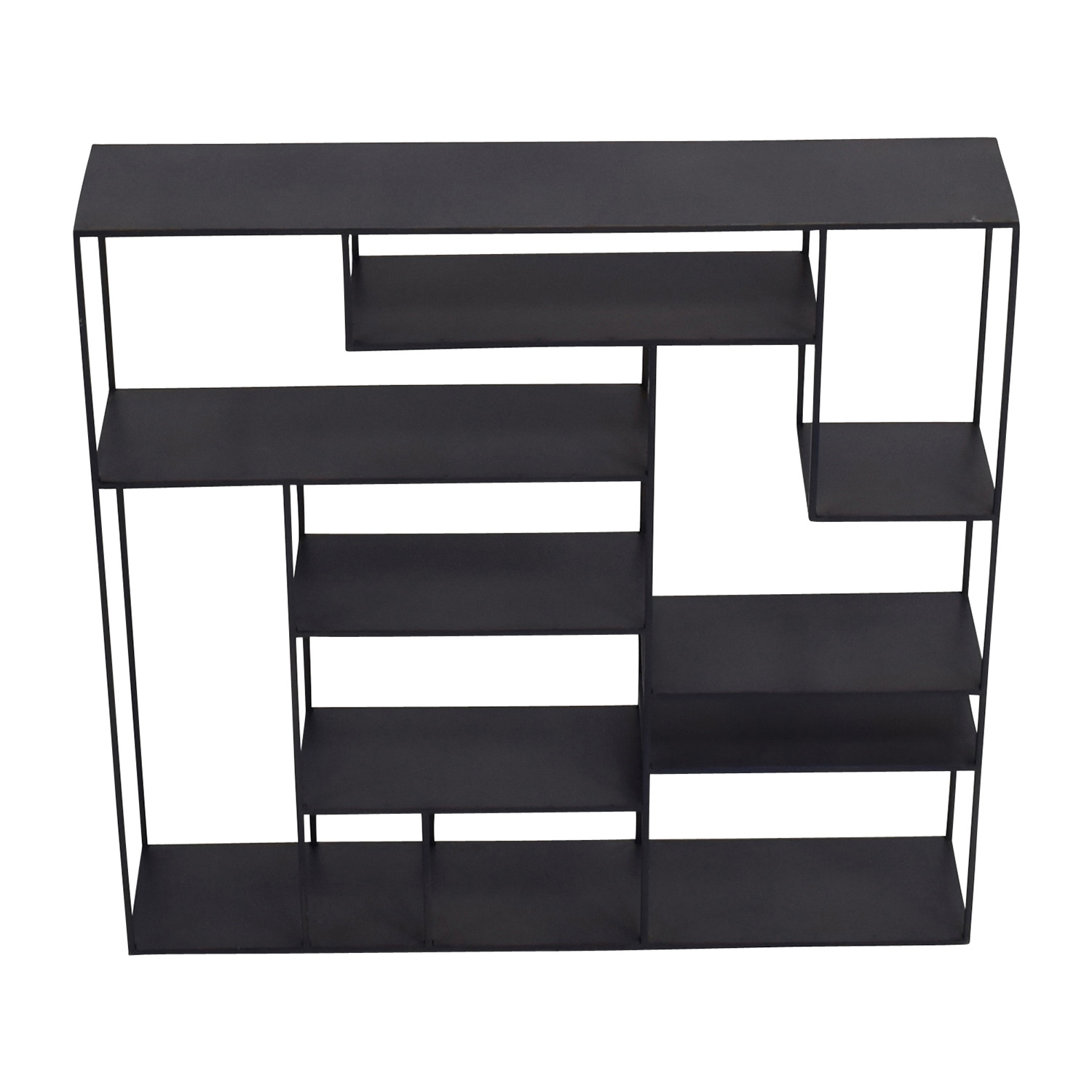 CB2 CB2 Alcove Black Metal Wall Shelf on sale