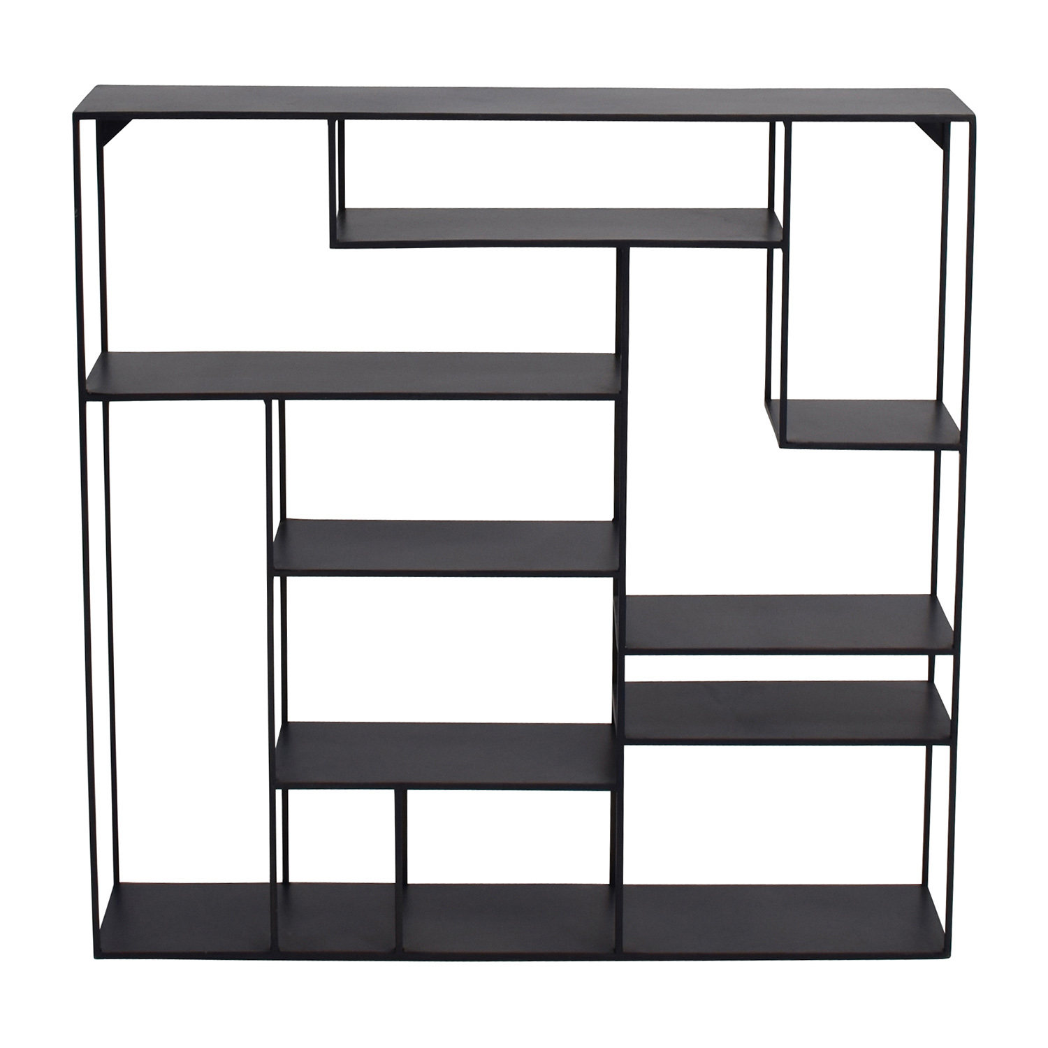 CB2 CB2 Alcove Black Metal Wall Shelf nyc