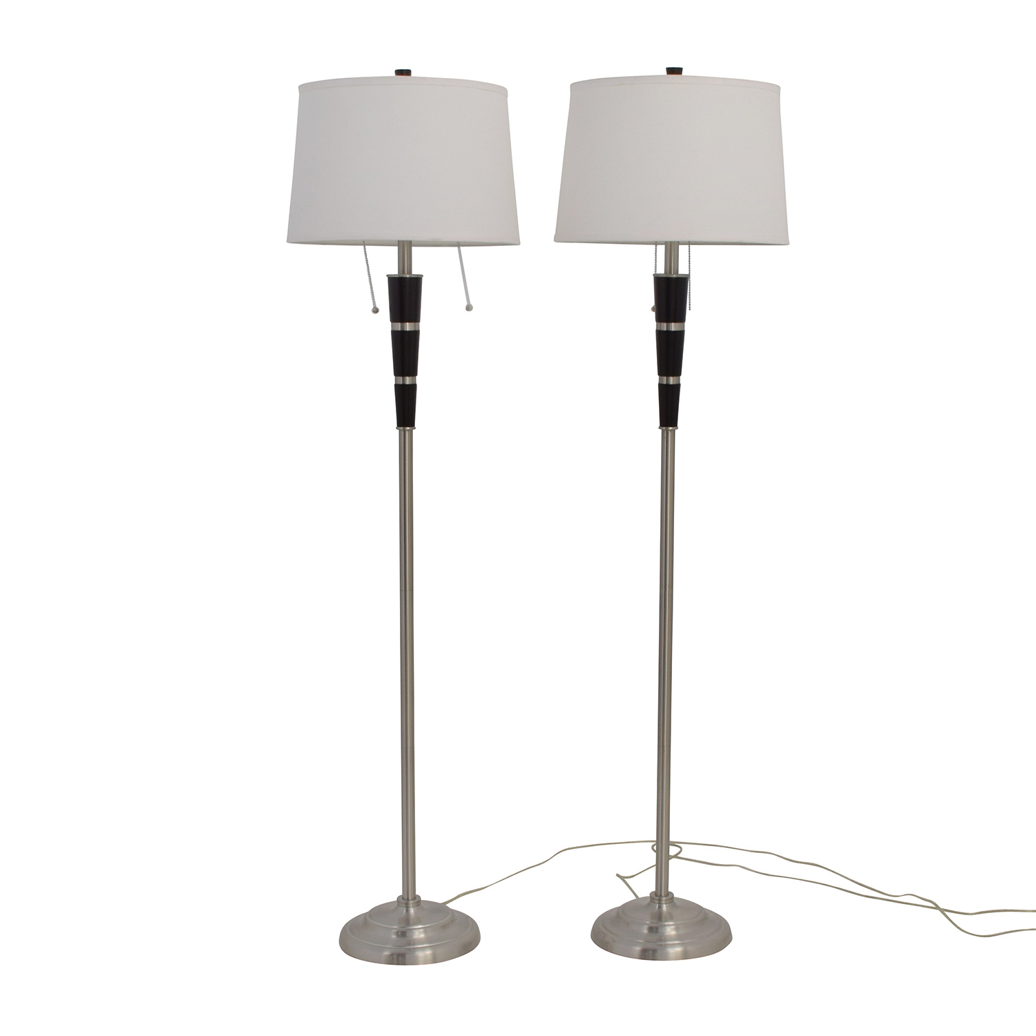 Nordstrom Nordstrom Black And Chrome Standing Floor Lamps Chrome
