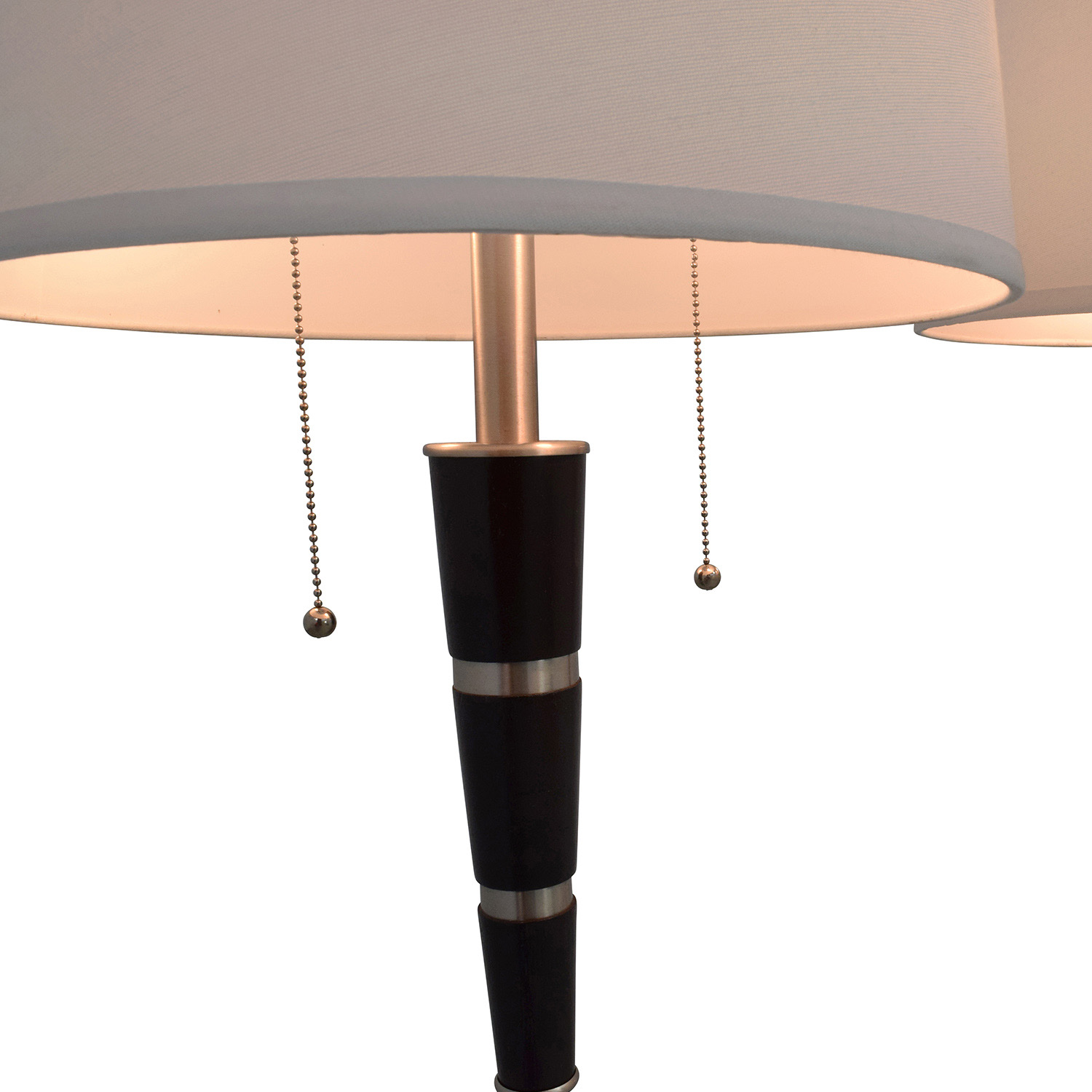 Nordstrom Black and Chrome Standing Floor Lamps sale