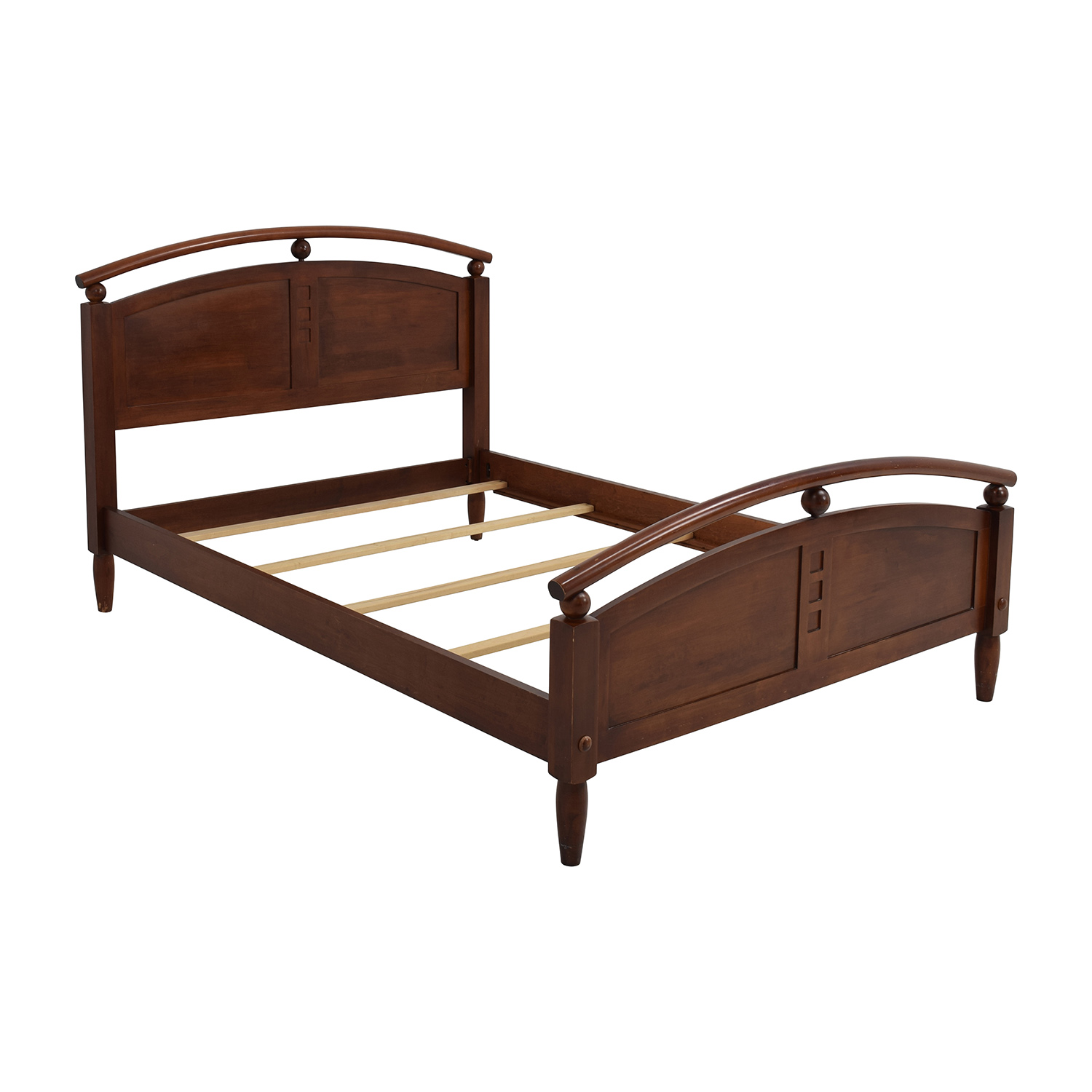 88 off ethan allen ethan allen full wooden bed frame beds for Second hand bunk beds
