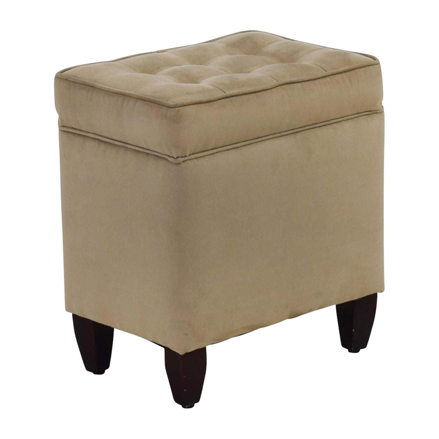 80 off beige tufted ottoman with storage chairs for Chair with storage
