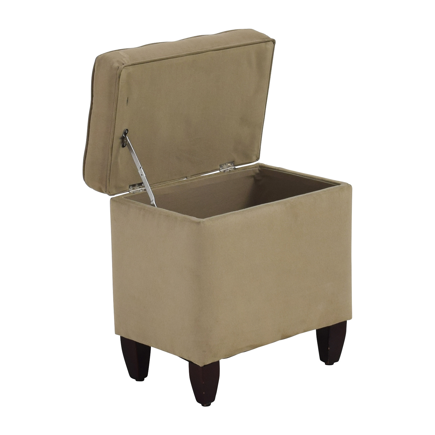 80 off beige tufted ottoman with storage chairs for Furniture ottoman storage