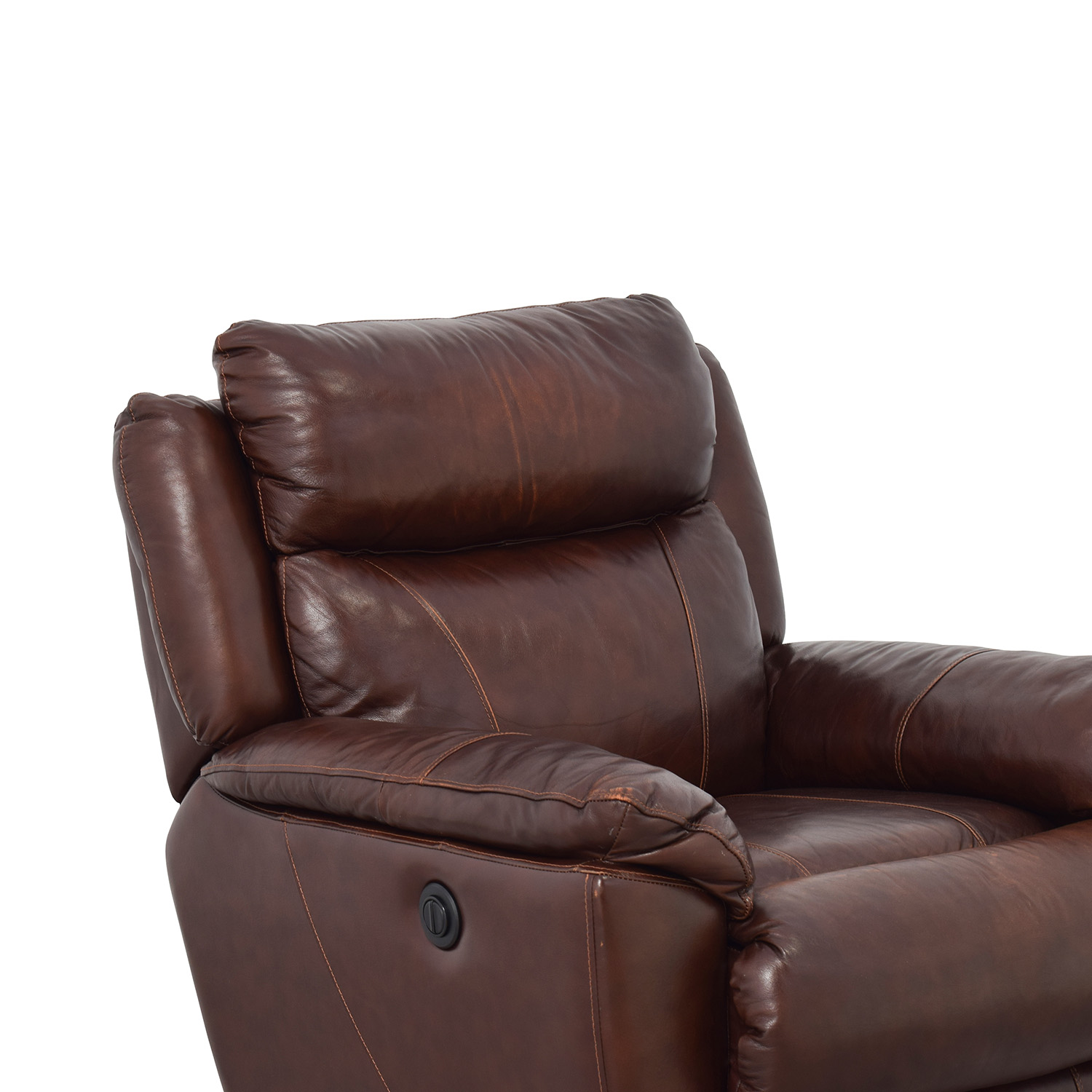 Macys Macys Brown Leather Power Recliner discount